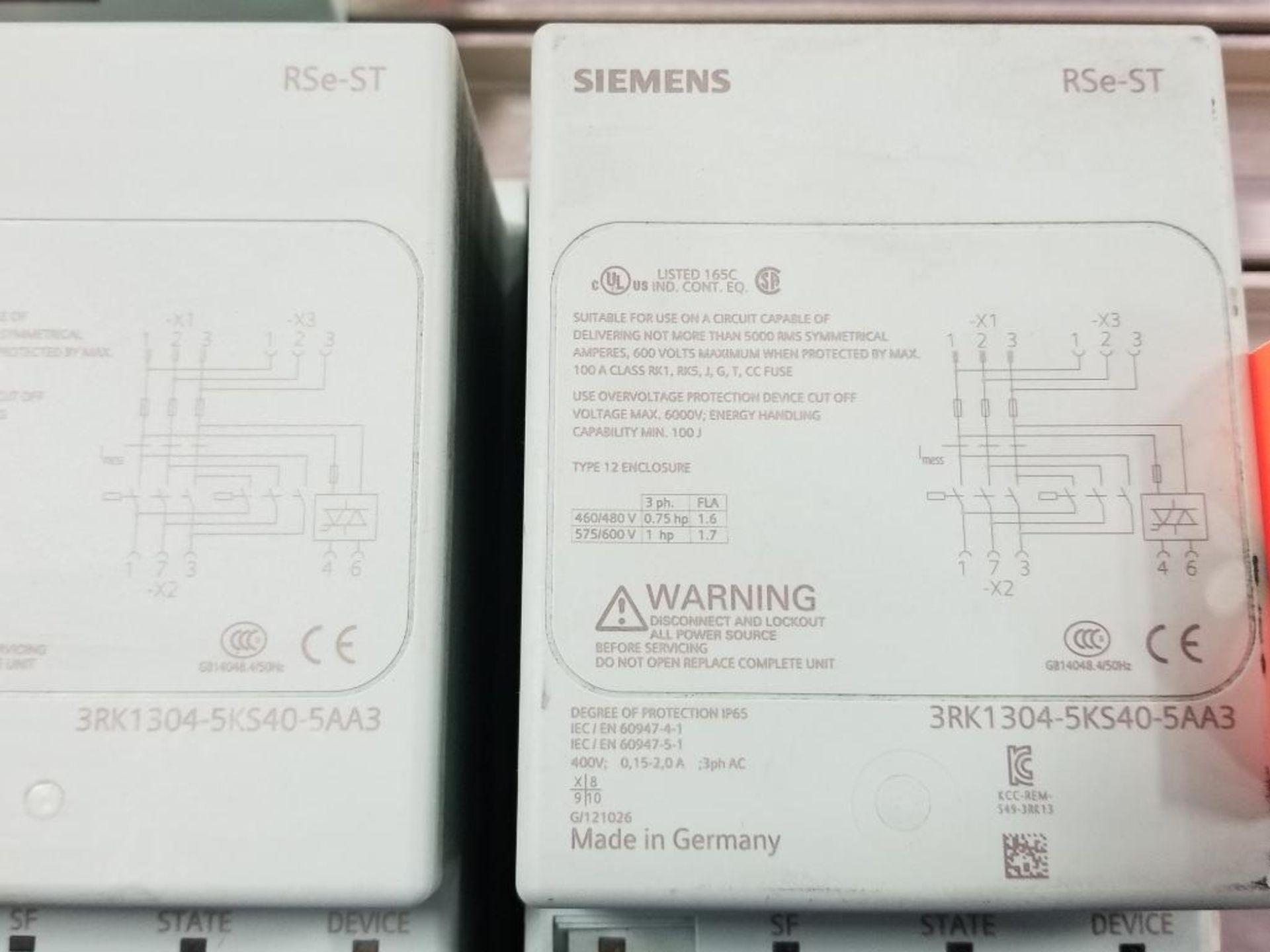 Qty 2 - Siemens RSe-ST 3RK1304-5KS40-5AA3 Reversing starter. - Image 2 of 7