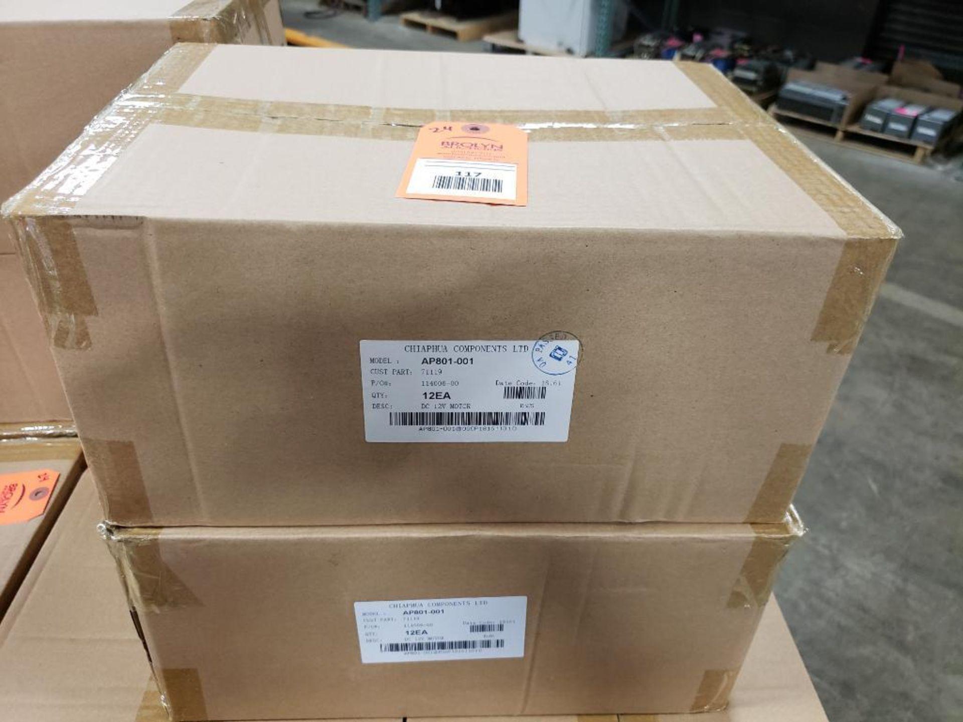 Qty 24 - Chiaphua Components LTD AP801-001. 71119 12VDC Motor.