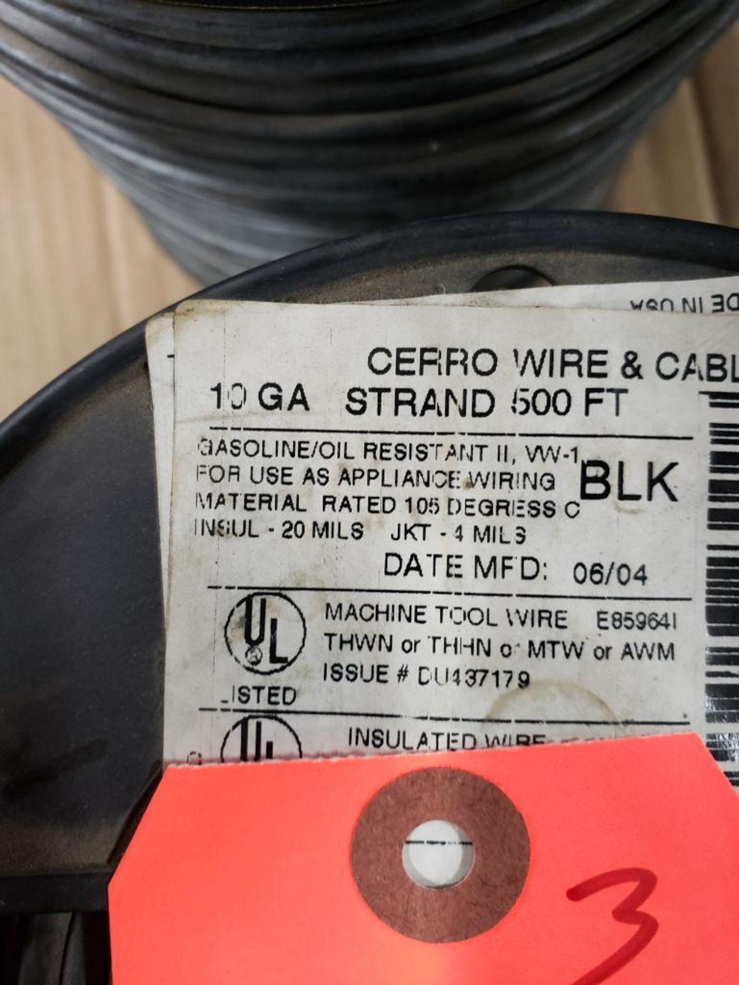 Qty 3 - Spool of CERRO contractor wire. 10GA-Black, 10GA-Green. - Image 2 of 5