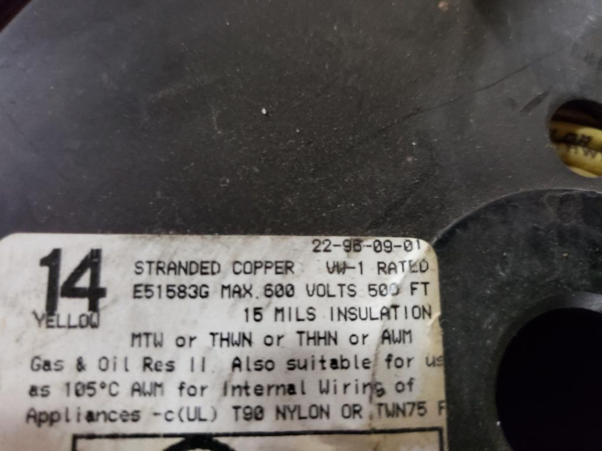Qty 4 - Spool of contractor wire. 14-Yellow, 14-Blue. - Image 3 of 6