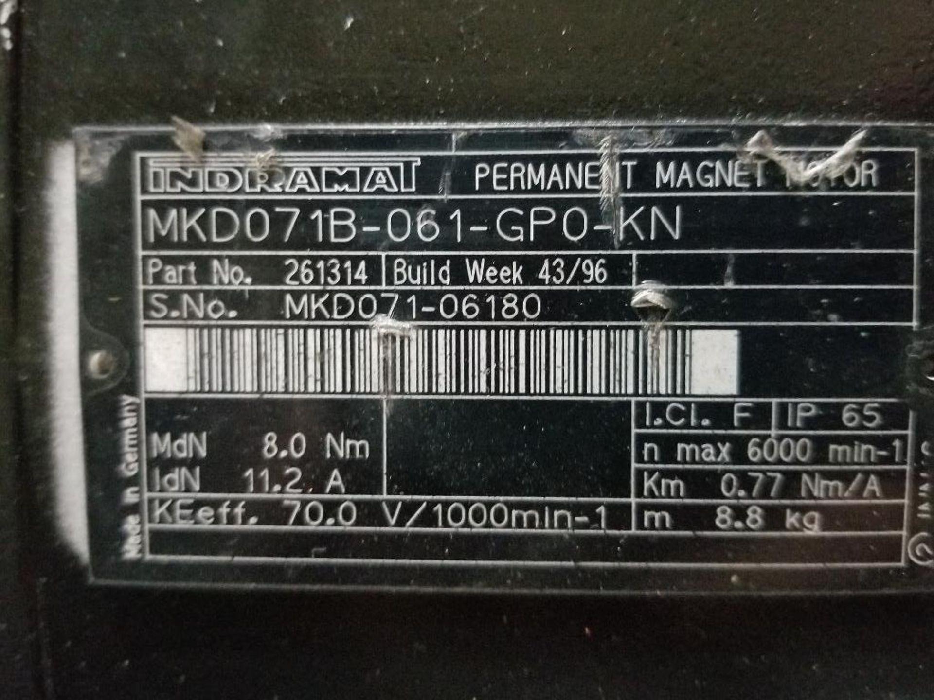 0.77kW Indramat permanent magnet motor. MKD071B-061-GP0-KN. - Image 3 of 4