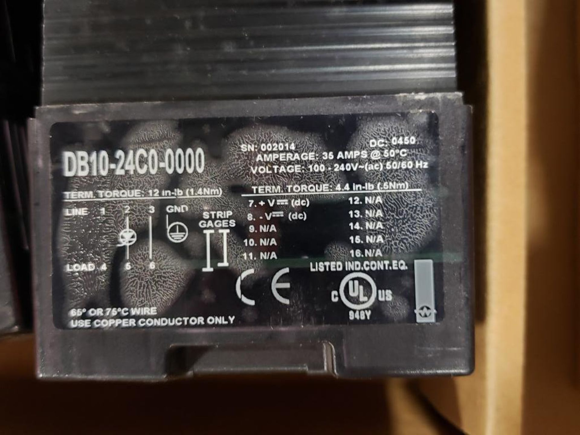Qty 2 - Watlow DIN-A-Mite DB10-24C0-0000 power controller. - Image 4 of 5