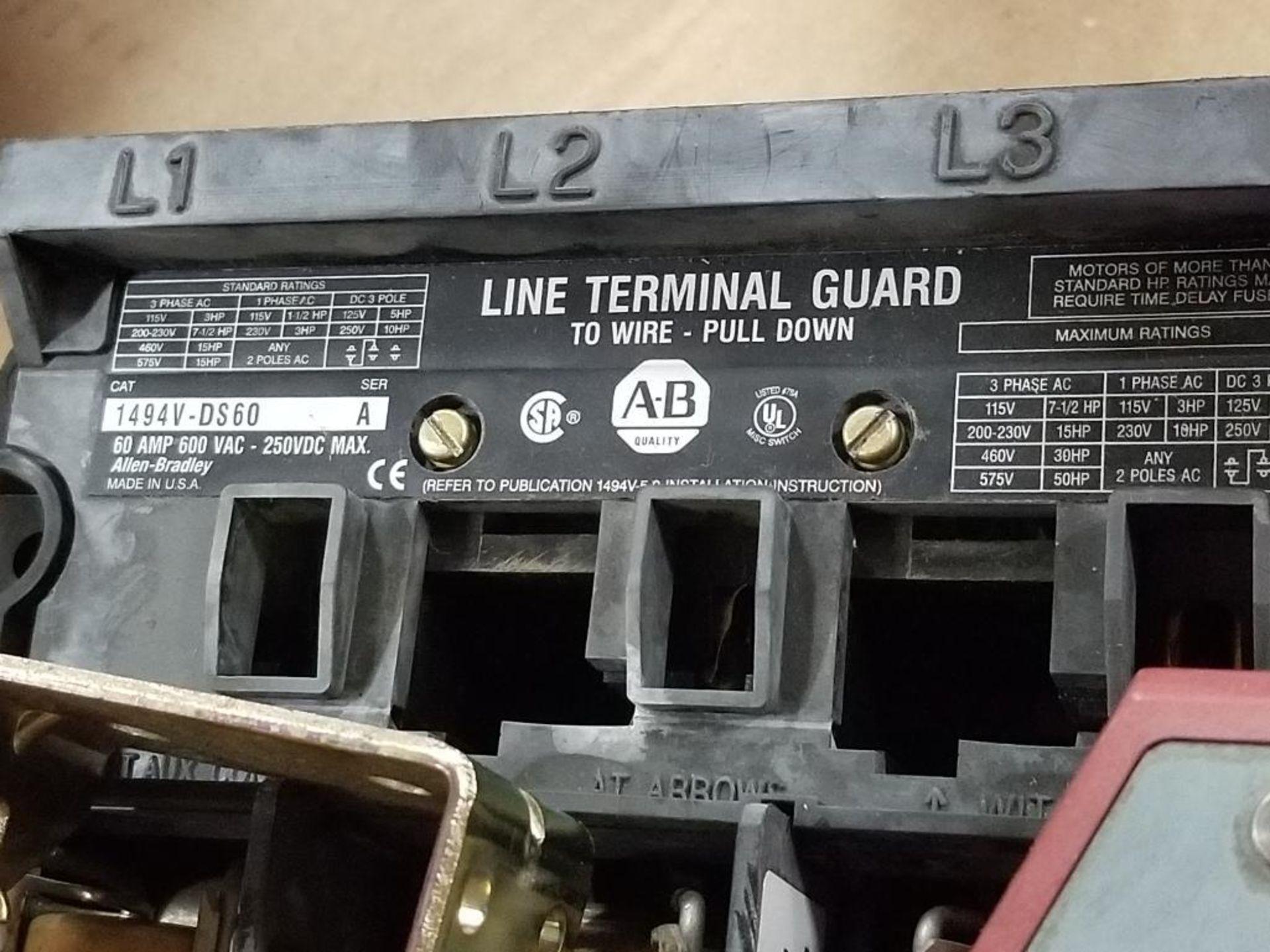 Allen Bradley 1494V-FS60 Disconnect switch. - Image 2 of 5