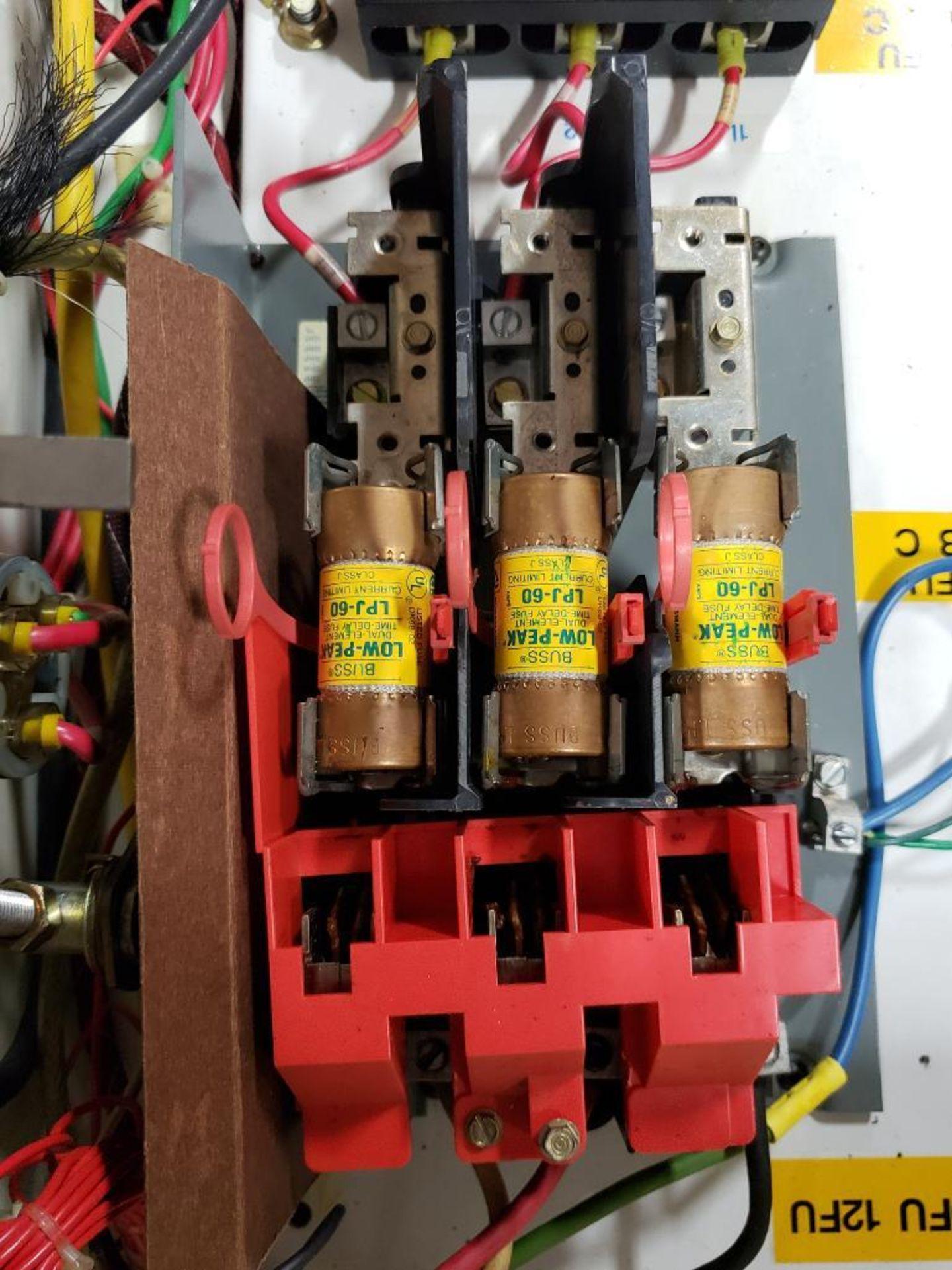 Chiller control cabinet. Hoffman enclosure, Cutler Hammer AF93AG0B007D drive, Allen Bradley drive. - Image 26 of 35