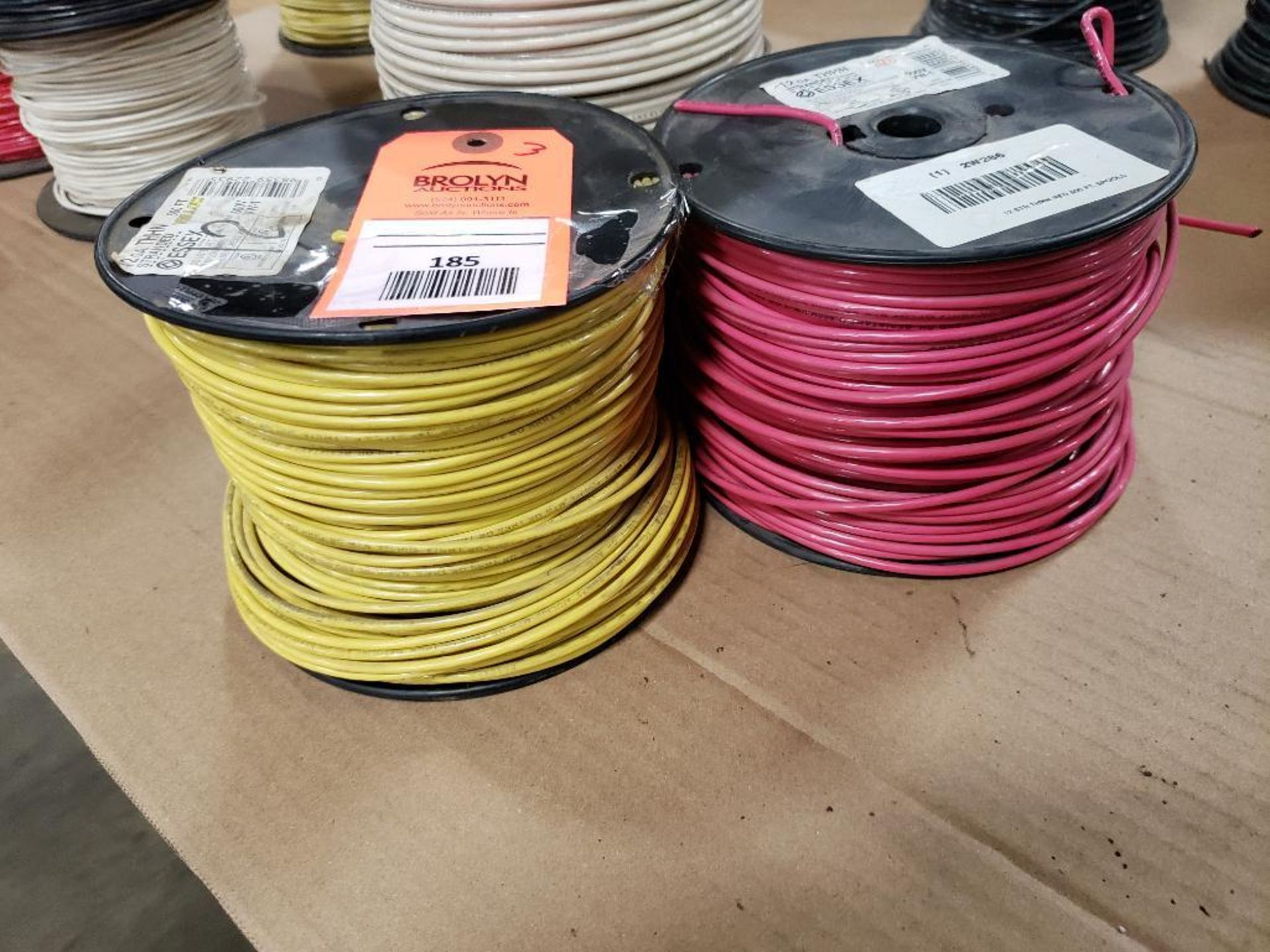 Qty 3 - Spool of ESSEX contractor wire. 12-RED THHN stranded, 10-WHITE. - Image 5 of 6