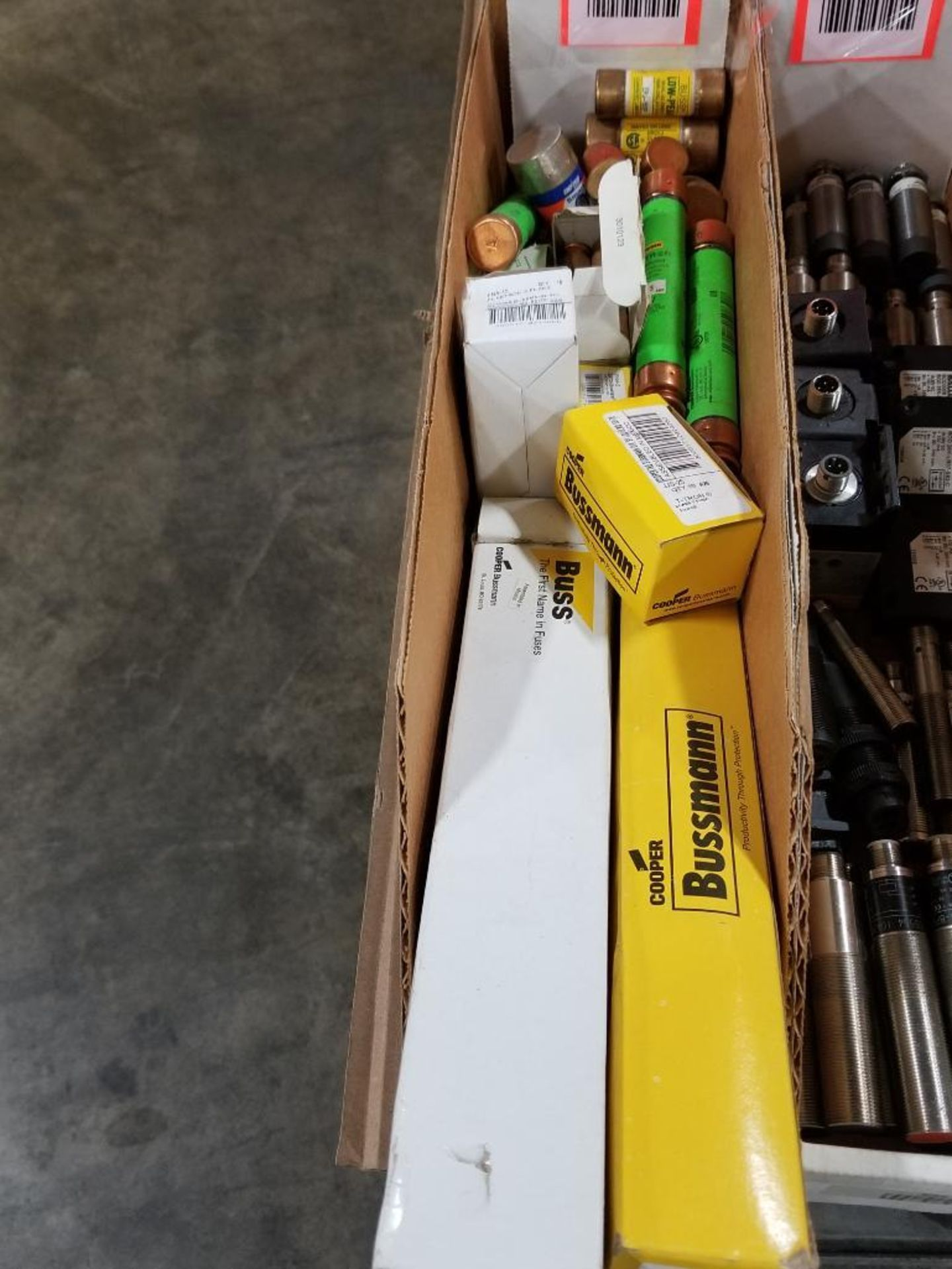 Assorted fuses. Bussmann, Fusetron, Amp-trap.