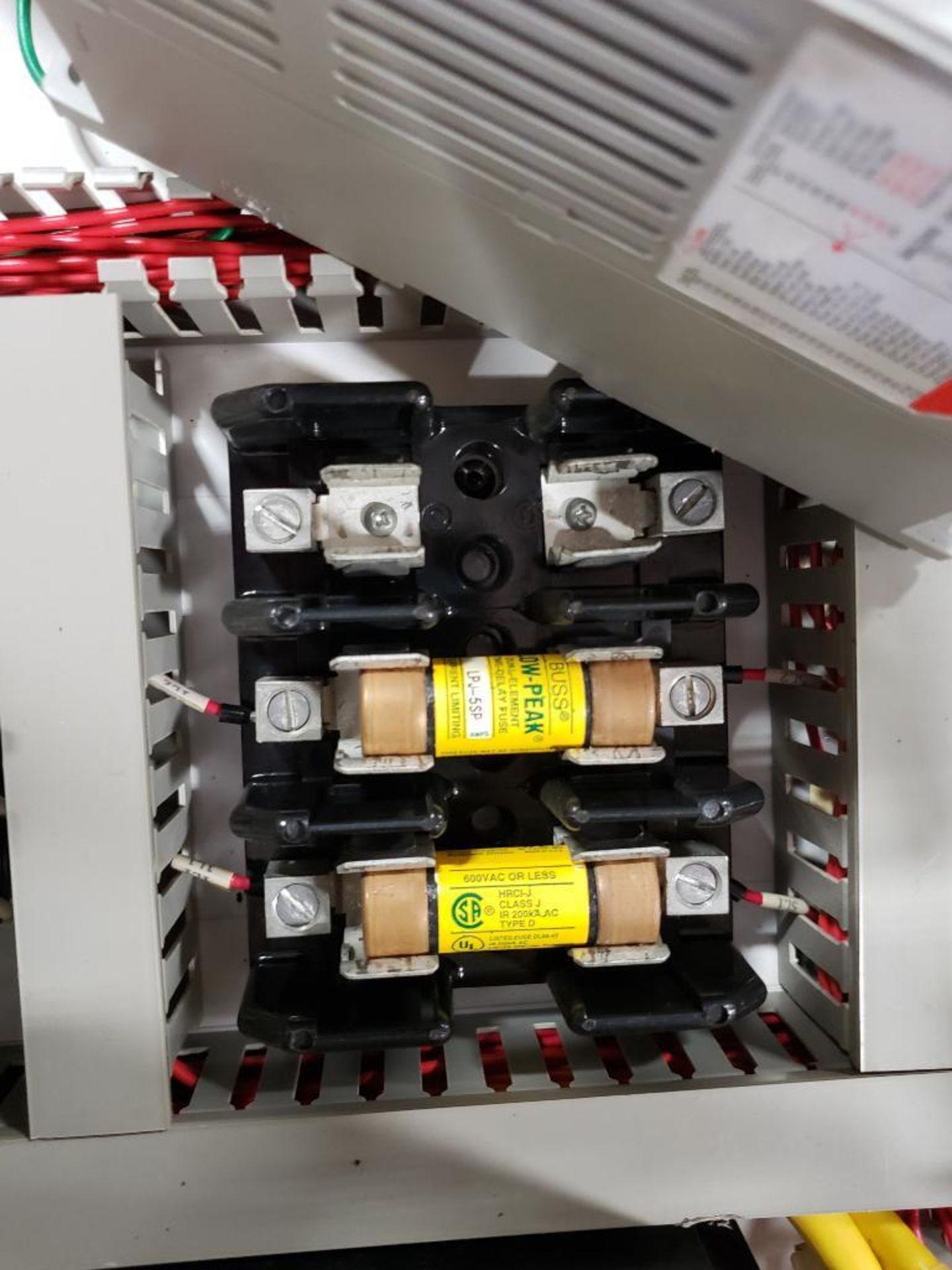 Chiller control cabinet. Hoffman enclosure, Cutler Hammer AF93AG0B007D drive, Allen Bradley drive. - Image 25 of 35