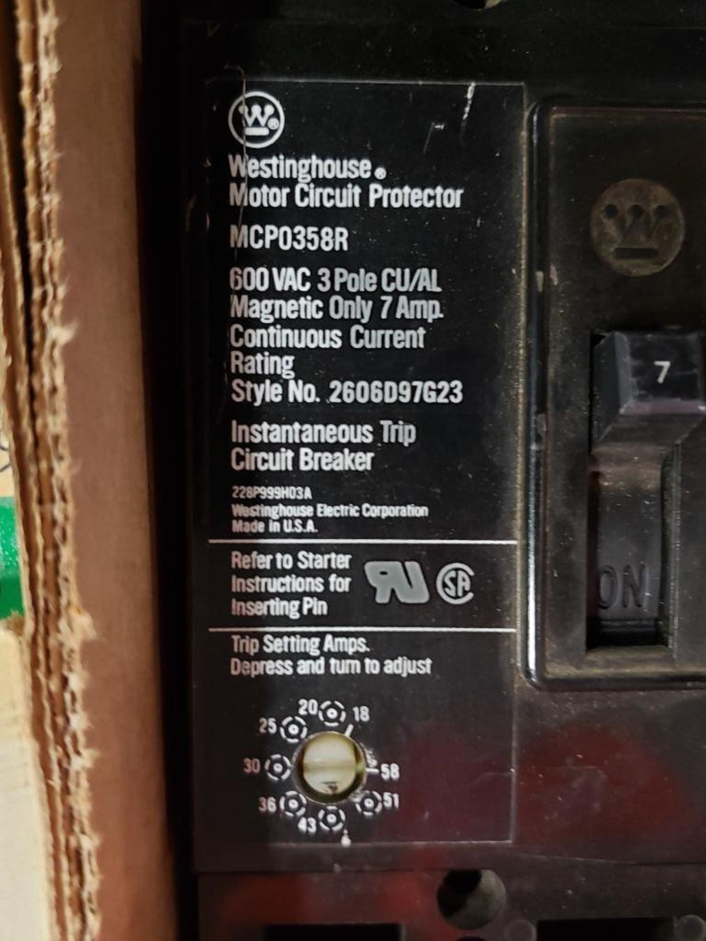 Assorted electrical breakers. Siemens, Westinghouse. - Image 5 of 8