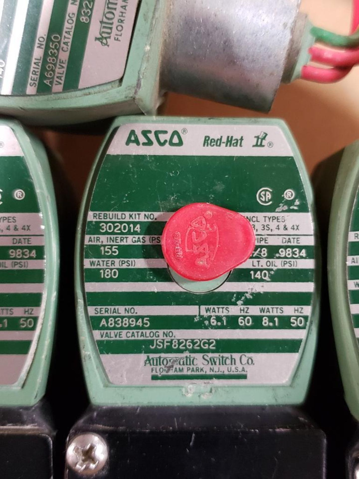 Qty 6 - Assorted ASCO solenoid coil. - Image 4 of 8