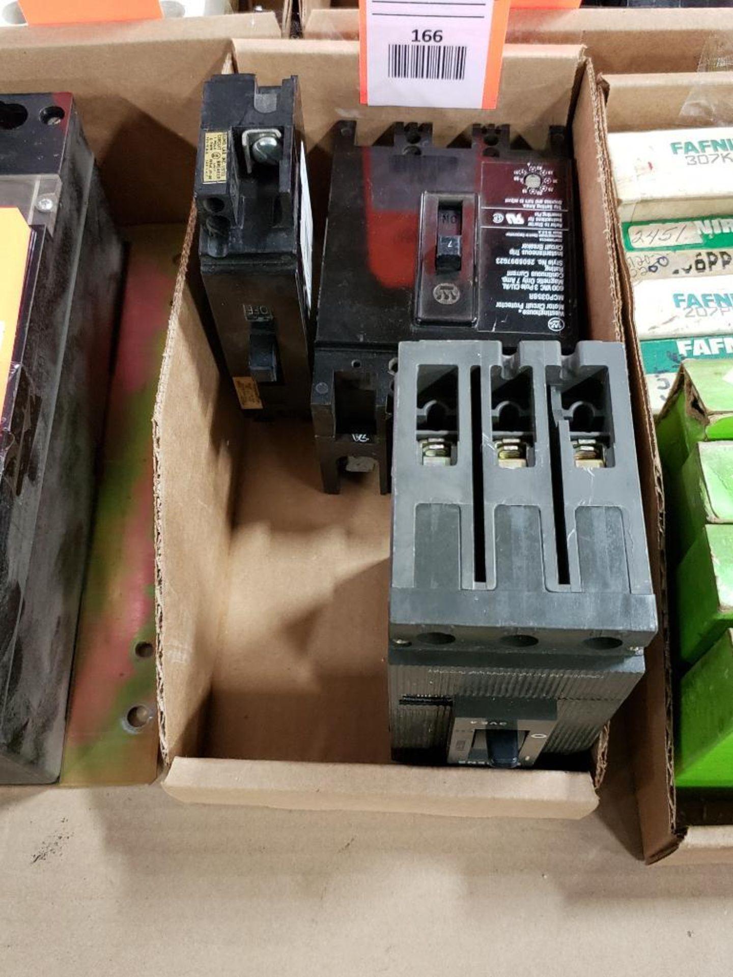 Assorted electrical breakers. Siemens, Westinghouse.