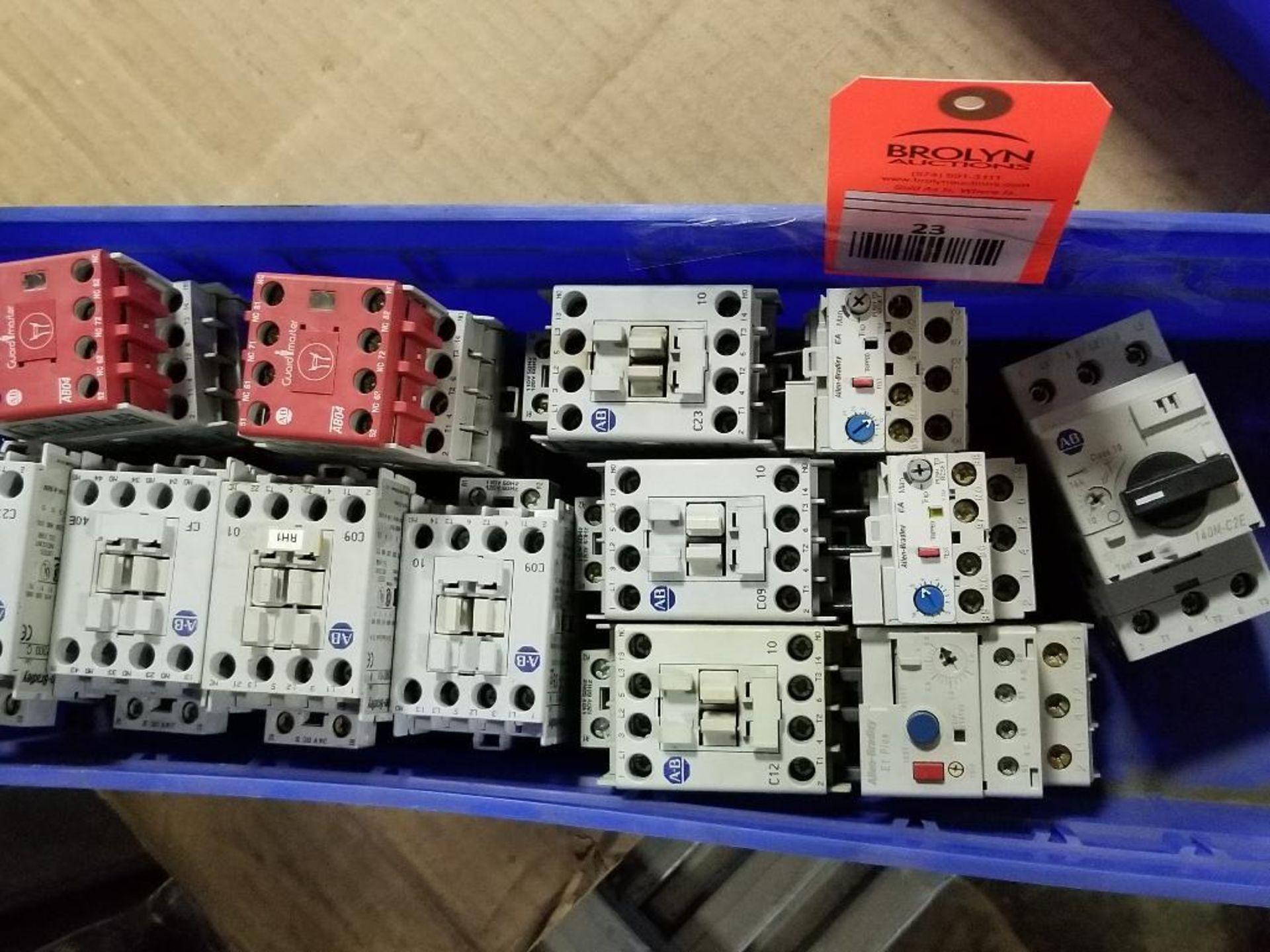 Assorted electrical contactors. Allen Bradley.
