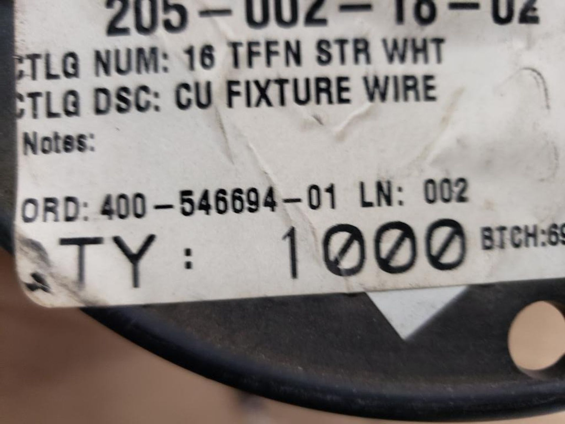 Qty 4 - Spool of CME contractor wire. 16-RED TFFN, 16-WHITE TFFN. - Image 4 of 5