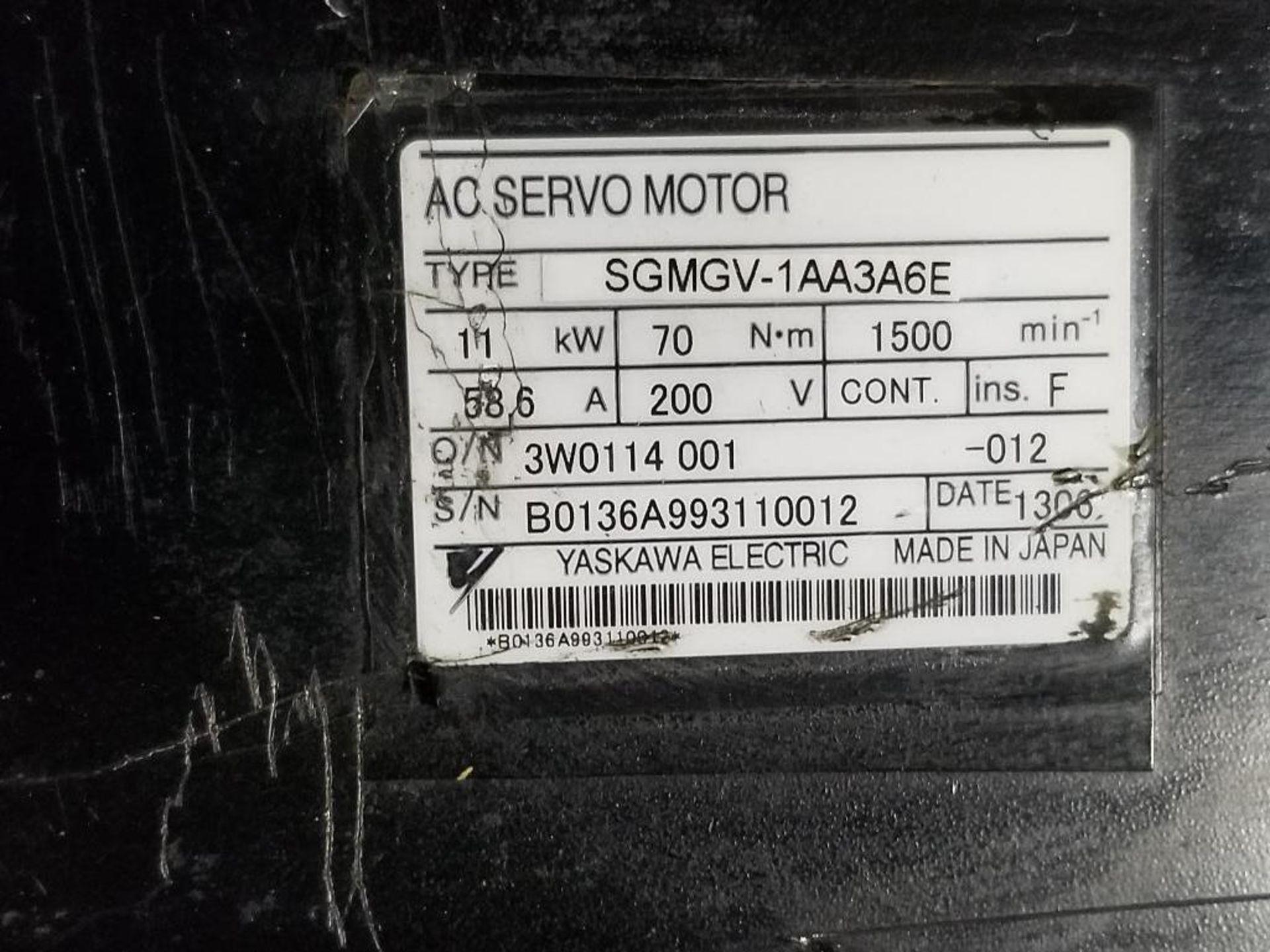 11kW Yaskawa Electric AC Servo Motor. SGMGV-1AA3A6E. 200V, 1500RPM. - Image 3 of 5