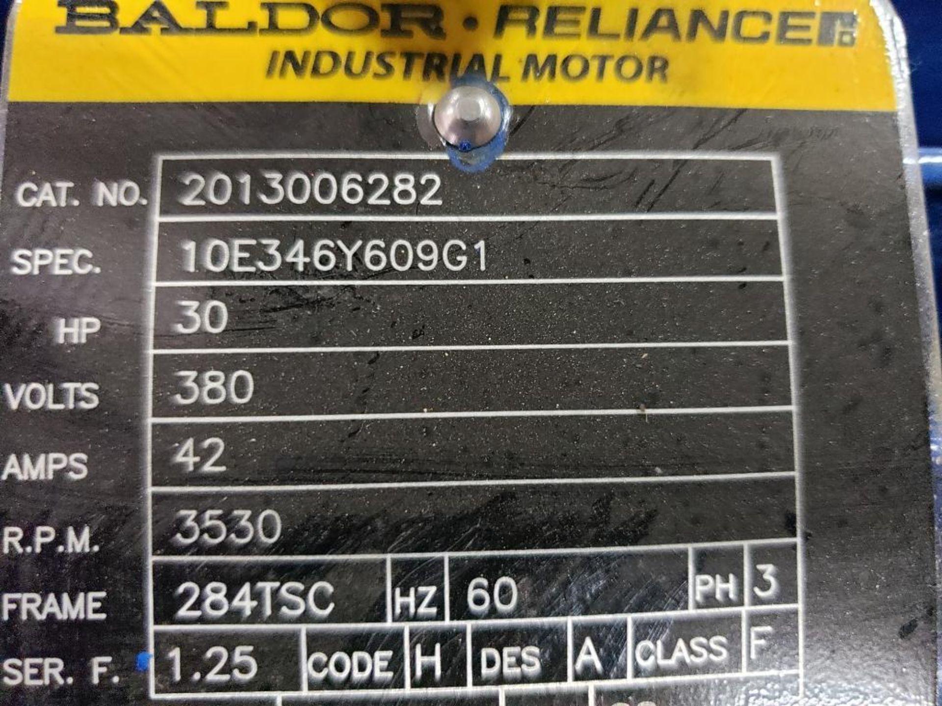 30HP Baldor Reliance 3PH motor. 2013006282. 380V, 3530RPM, 284TSC-Frame. - Image 3 of 8