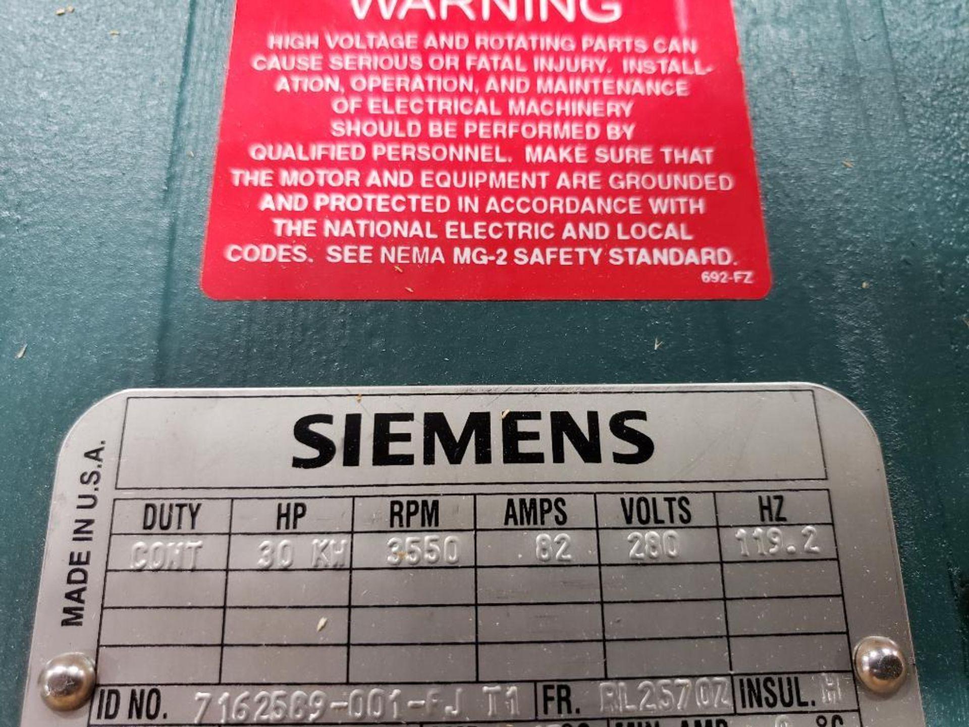 30kW Siemens 3PH Motor. 6986722-001-CJT3. 280V, 3550RM, RL2570Z-Frame. - Image 3 of 8
