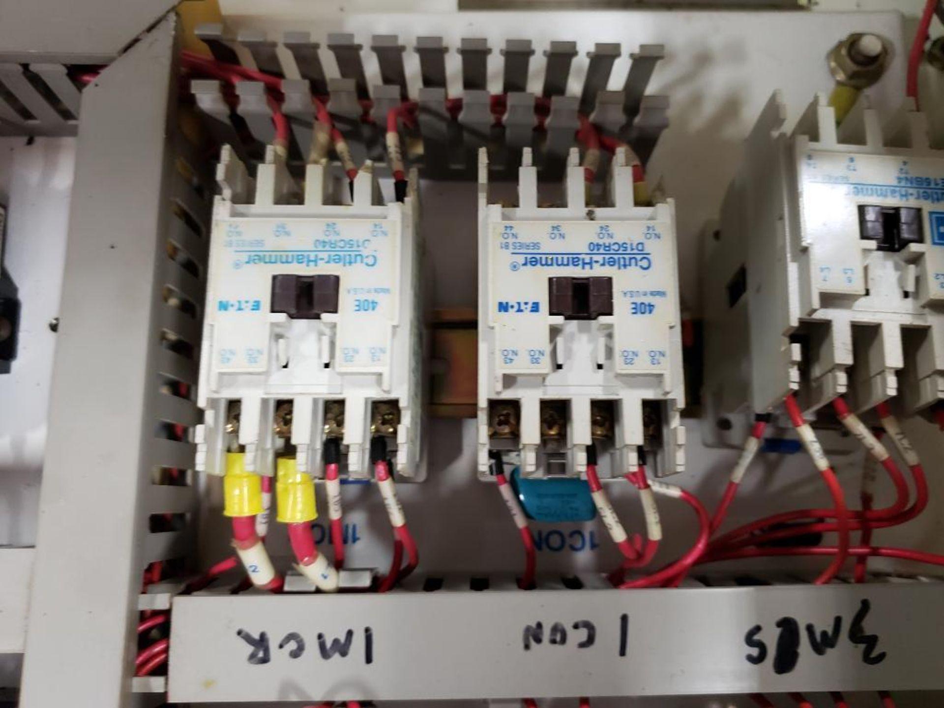 Chiller control cabinet. Hoffman enclosure, Cutler Hammer AF93AG0B007D drive, Allen Bradley drive. - Image 32 of 35