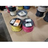 Qty 3 - Spool of ESSEX contractor wire. 12-RED THHN stranded, 10-WHITE.