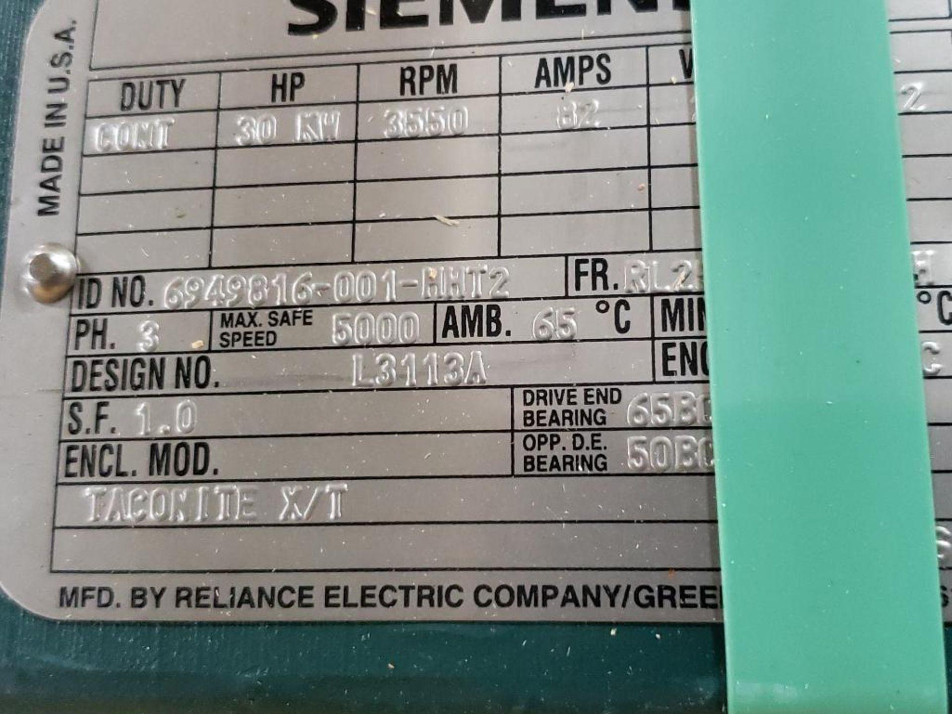30kW Siemens 3PH Motor. 6949816-001-MHT2. 280V, 3550RM, RL2570Z-Frame. - Image 4 of 7