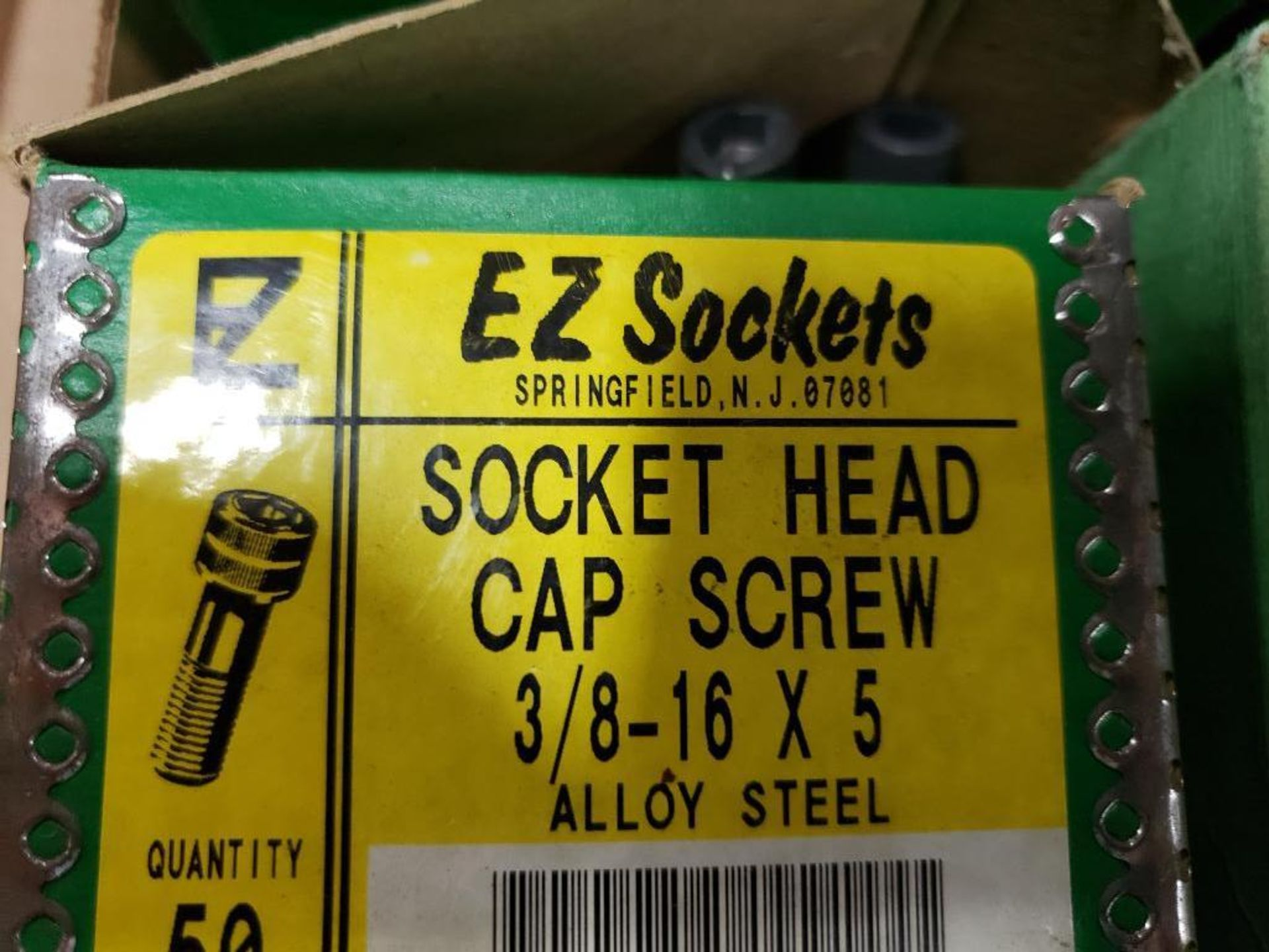 """Large Qty of assorted EZ Sockets socket head cap screw. 3/4"""", 3/8"""". New in Box. - Image 4 of 5"""
