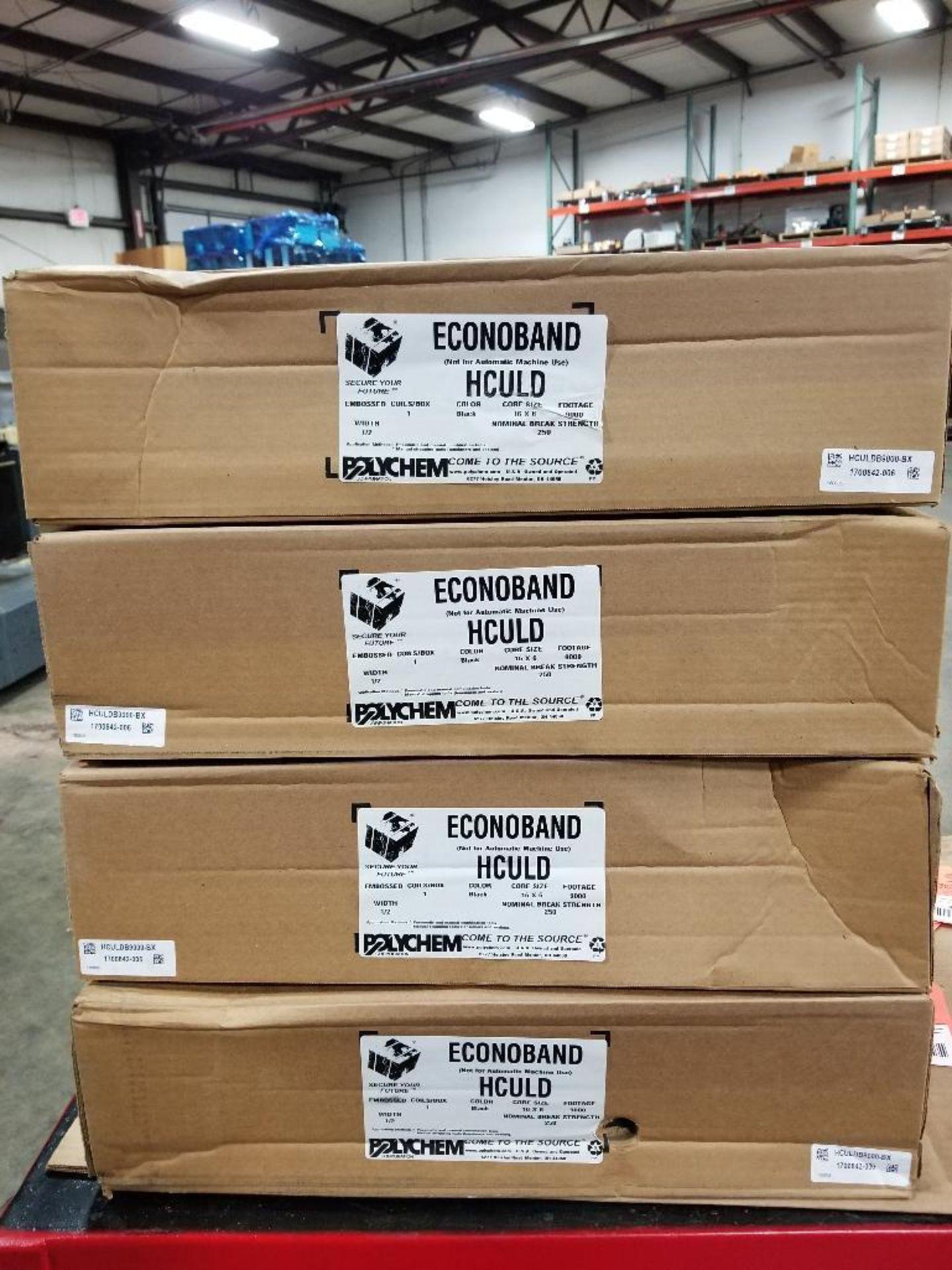 "Qty 4 - Polychem Econoband HCULD 9000Ft black banding. 1/2""."