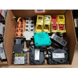 Assorted electrical. efector, Omron, Schmersal, Pepperl+Fuchs.