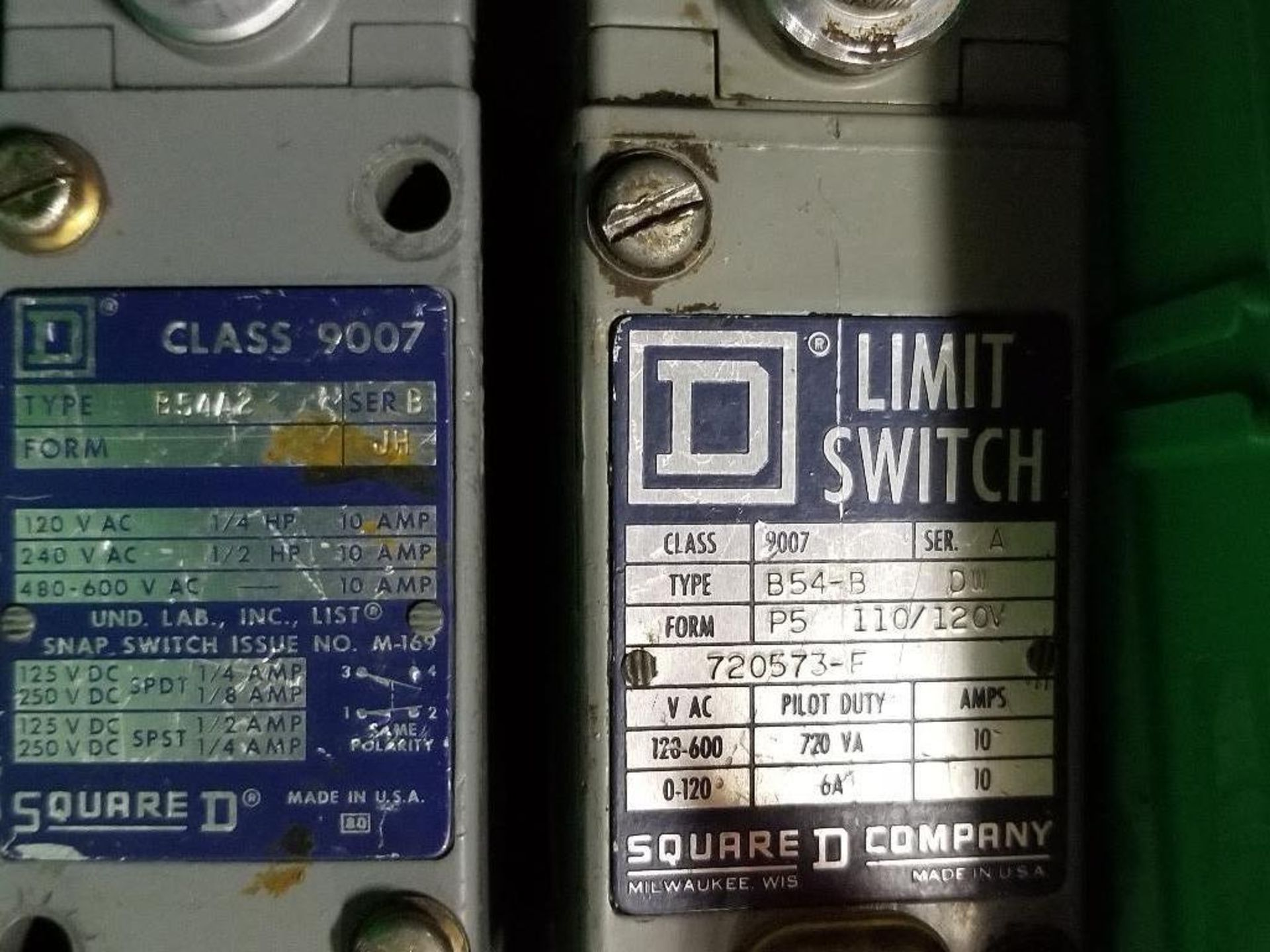 Assorted electrical limit switches. Allen Bradley, Square-D. - Image 3 of 7
