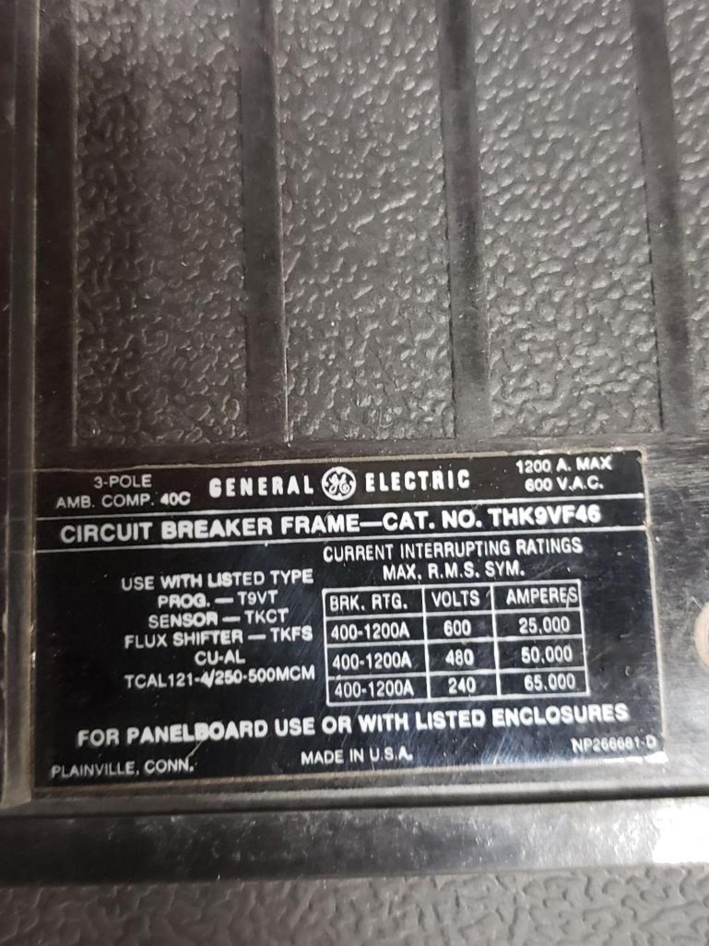 GE Micro Versa Trip T9VT20 Breaker. 1200Amp, 3-Pole. - Image 4 of 5