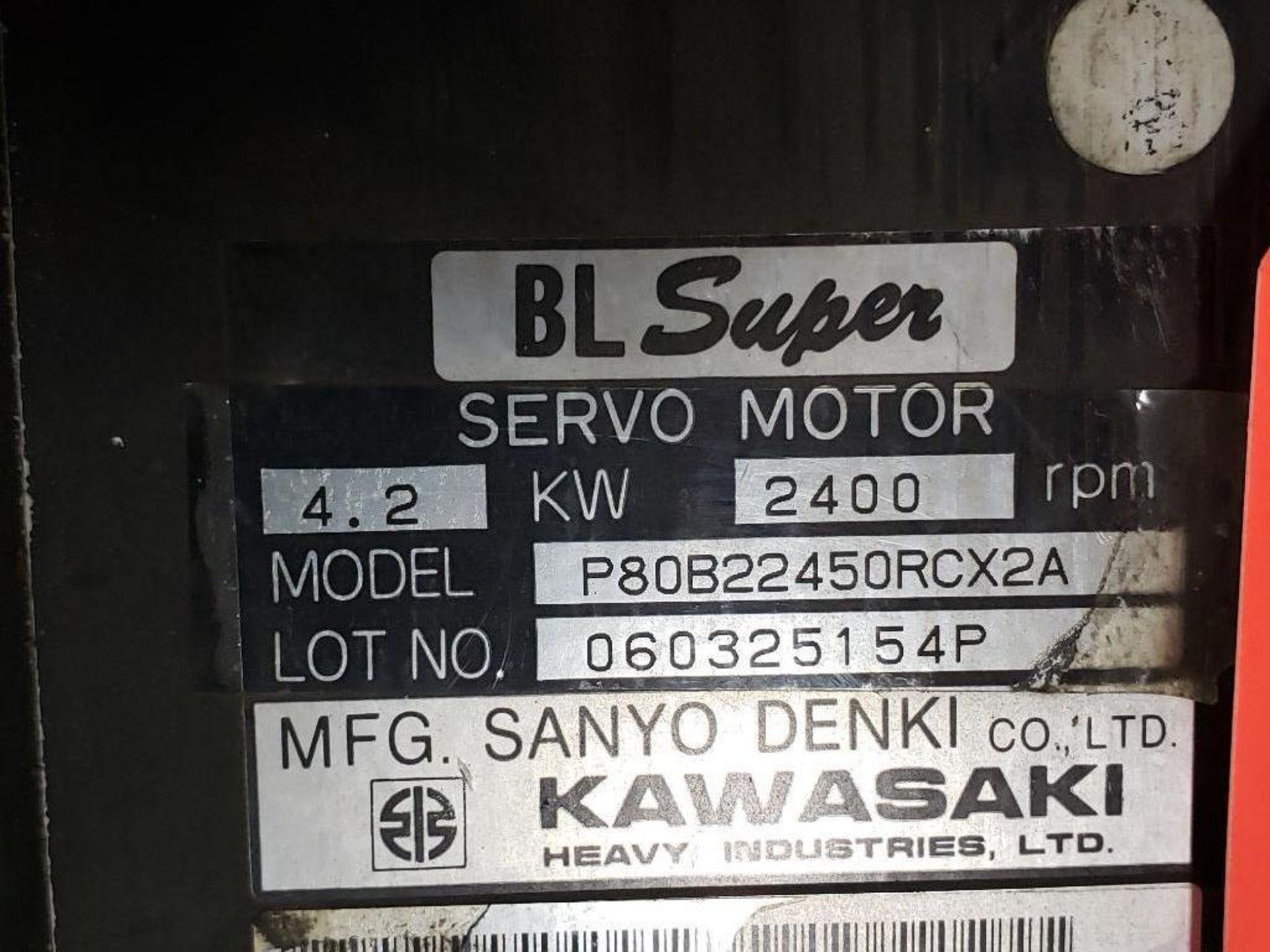 4.2kW Kawasaki Servo Motor P80B22450RCX2A. 2400RPM. - Image 2 of 3