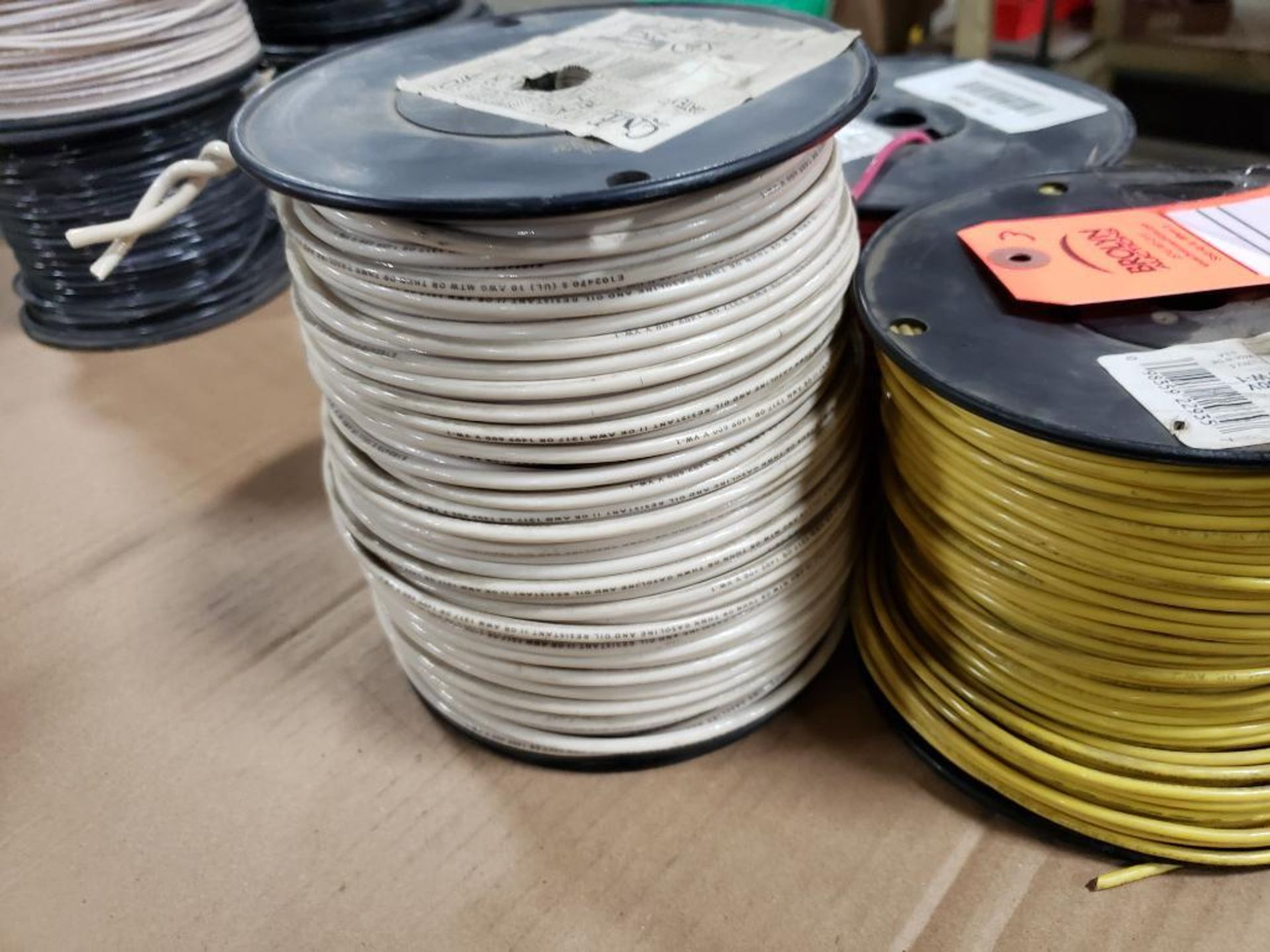 Qty 3 - Spool of ESSEX contractor wire. 12-RED THHN stranded, 10-WHITE. - Image 6 of 6