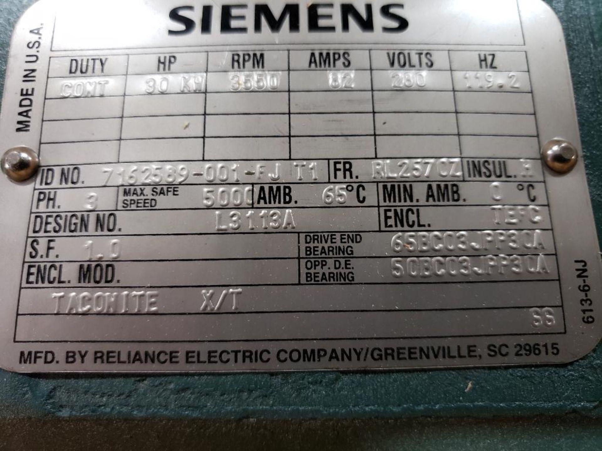 30kW Siemens 3PH Motor. 6986722-001-CJT3. 280V, 3550RM, RL2570Z-Frame. - Image 4 of 8