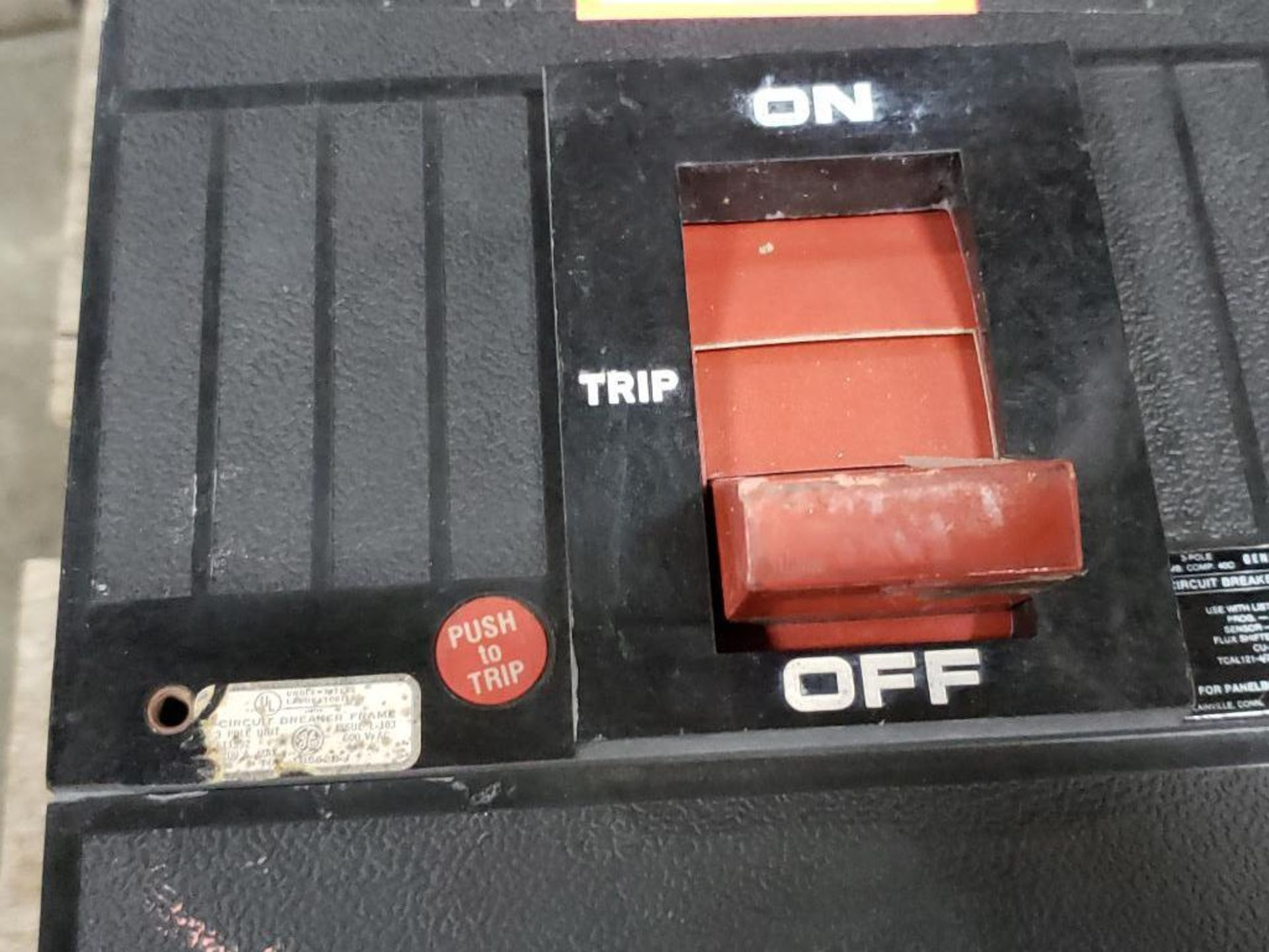 GE Micro Versa Trip T9VT20 Breaker. 1200Amp, 3-Pole. - Image 5 of 5