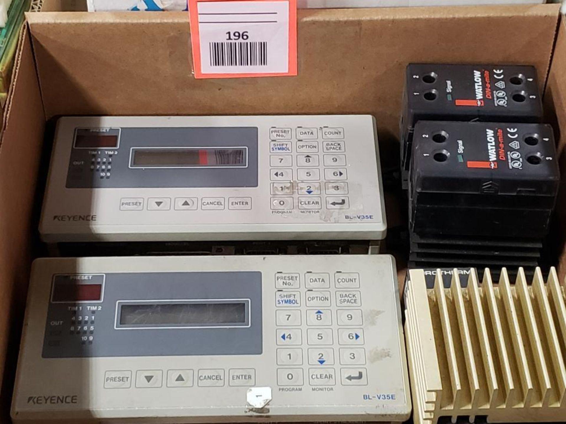 Assorted electrical. Keyence, Watlow.
