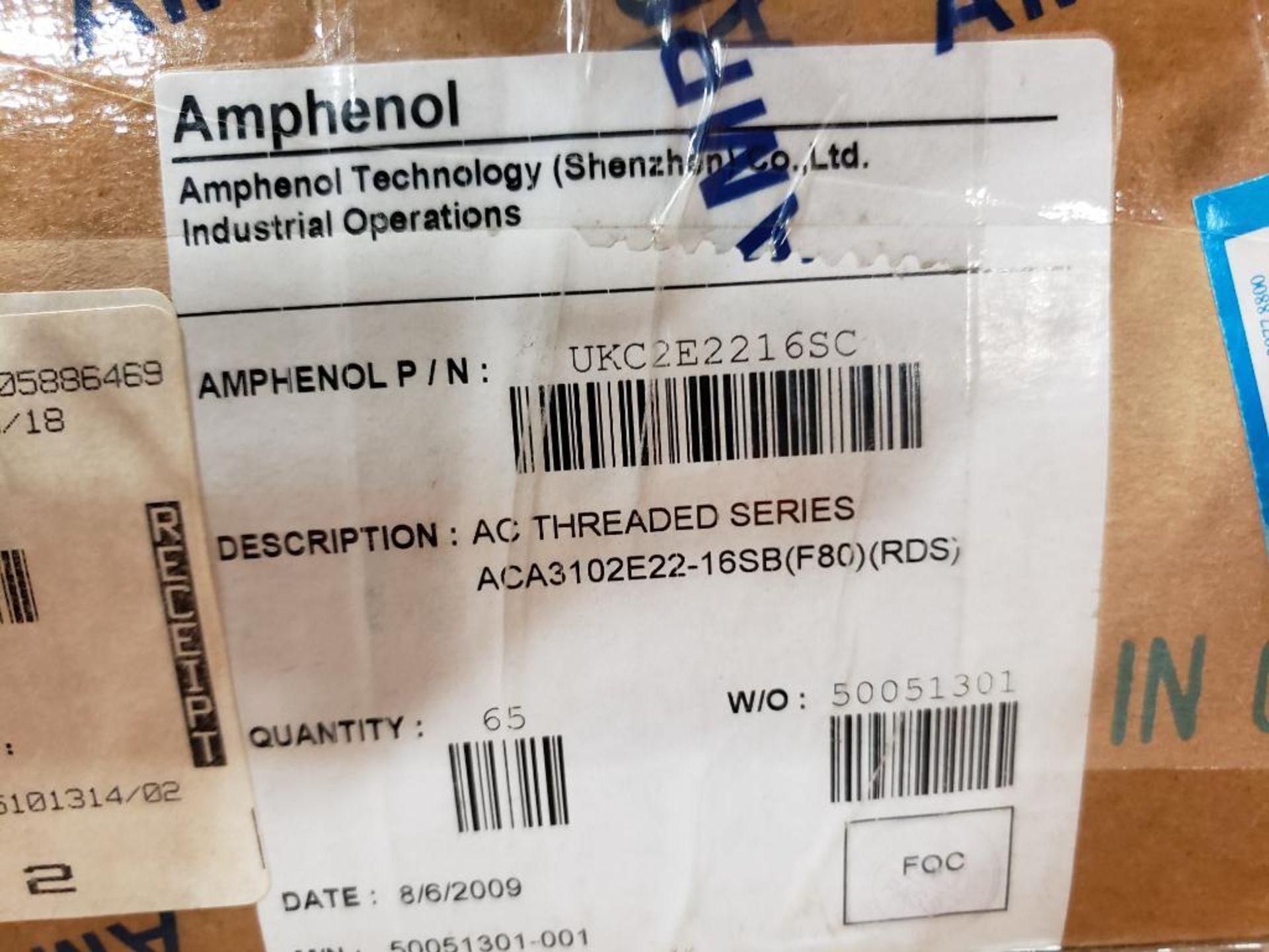 Qty 65 - Amphenol UKC2E2216SC AC Threaded series plug connector.