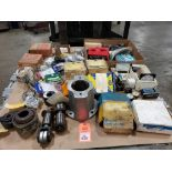 Pallet of assorted parts. CR universal joints, SKF, Rockwell, Star, TB Woods.