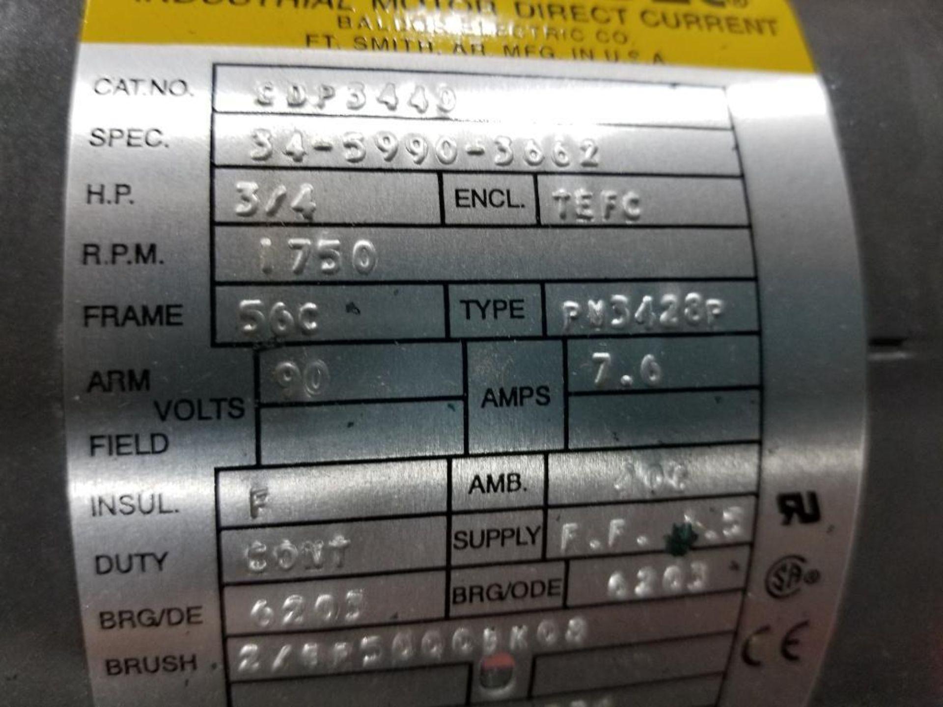 3/4HP Baldor industrial motor COP3440, 34-5990-3662. 1750RPM, 56C-Frame. - Image 3 of 5