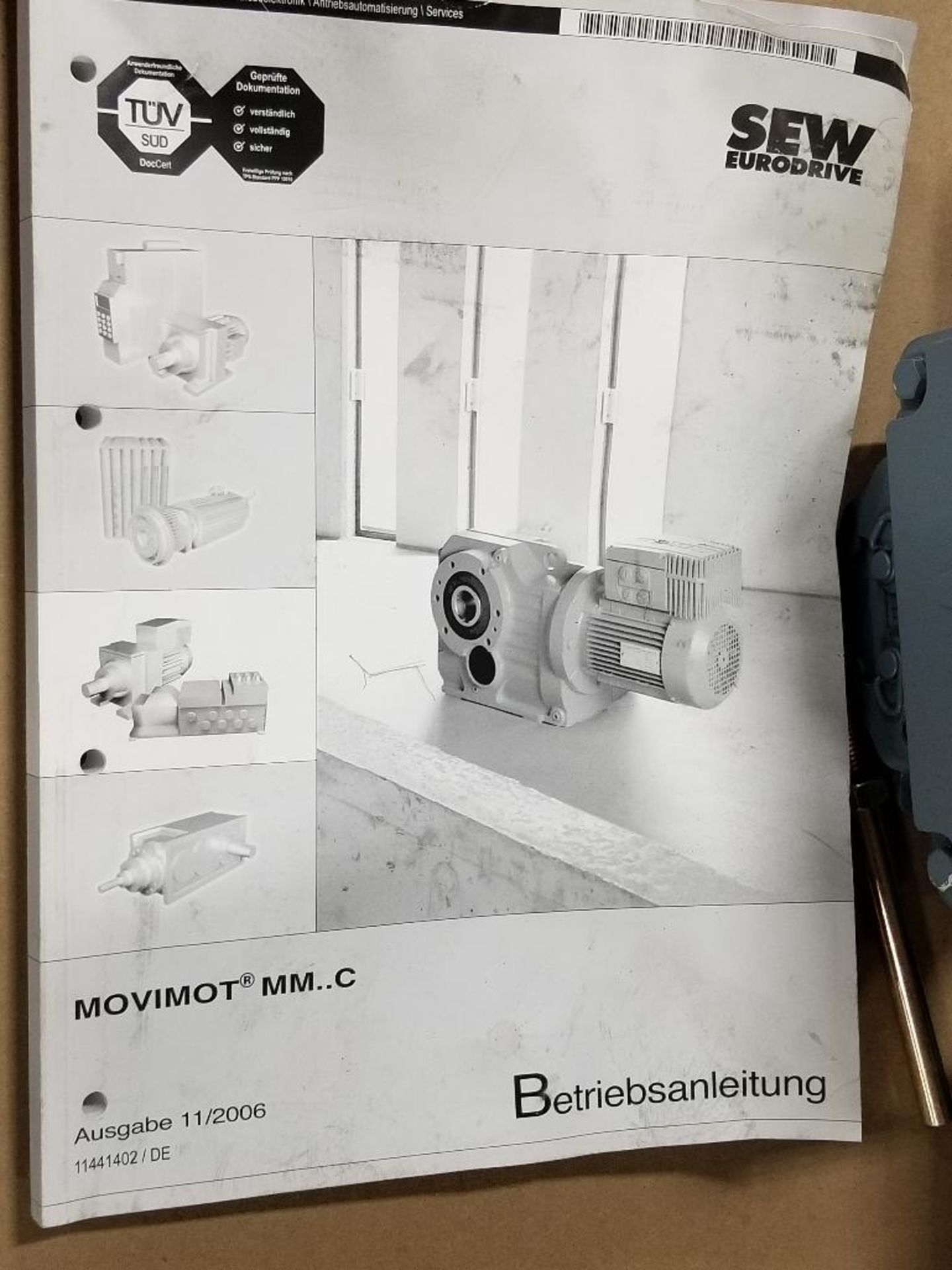 0.37kW Sew-Eurodrive Type-HS40 Motor. 01.1276862401.0001.09 400/460V, 1380/1680RPM. - Image 5 of 5