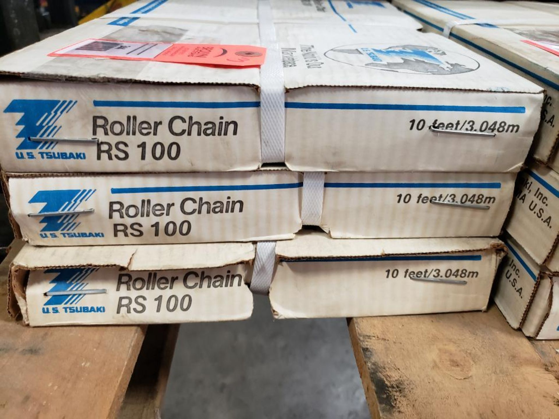 Qty 3 - 10FT US Tsubaki RS100 Roller Chain. New in Box. - Image 2 of 3