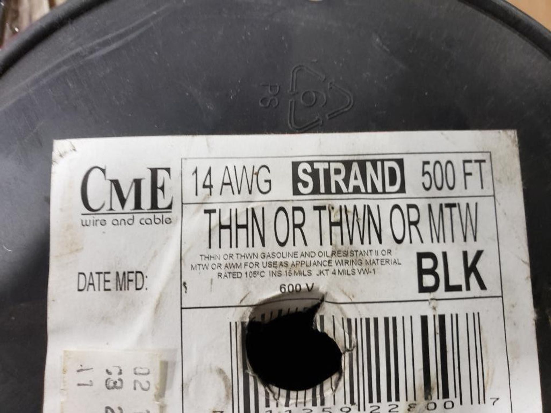 Qty 4 - Spool of CME contractor wire. 14AWG-BLACK, 14GA-BLACK. - Image 4 of 6