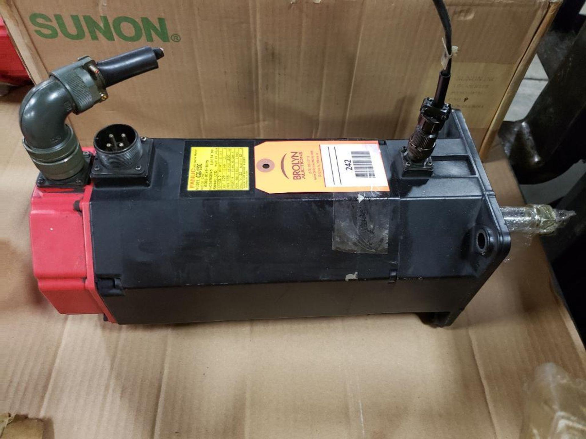 3.0kW GE Fanuc AC Servo Motor A06B-0146-B675. 179V, 1500RPM, 3PH.