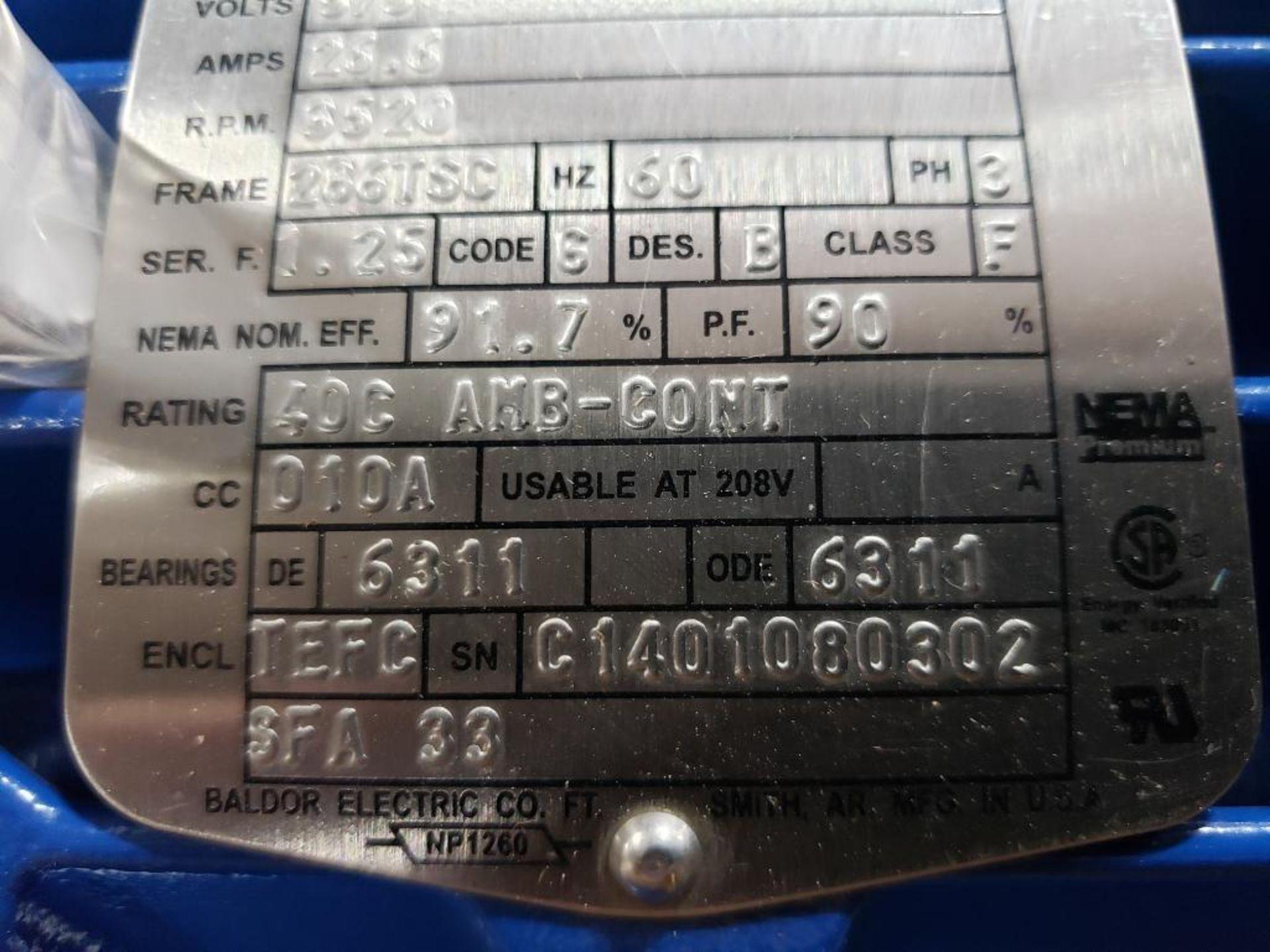 30HP Baldor Reliance 3PH motor. 2013000110. 575V, 3520RPM, 286TSC-Frame. - Image 5 of 6