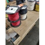 Qty 4 - Spool of CME contractor wire. 16-RED TFFN, 16-WHITE TFFN.