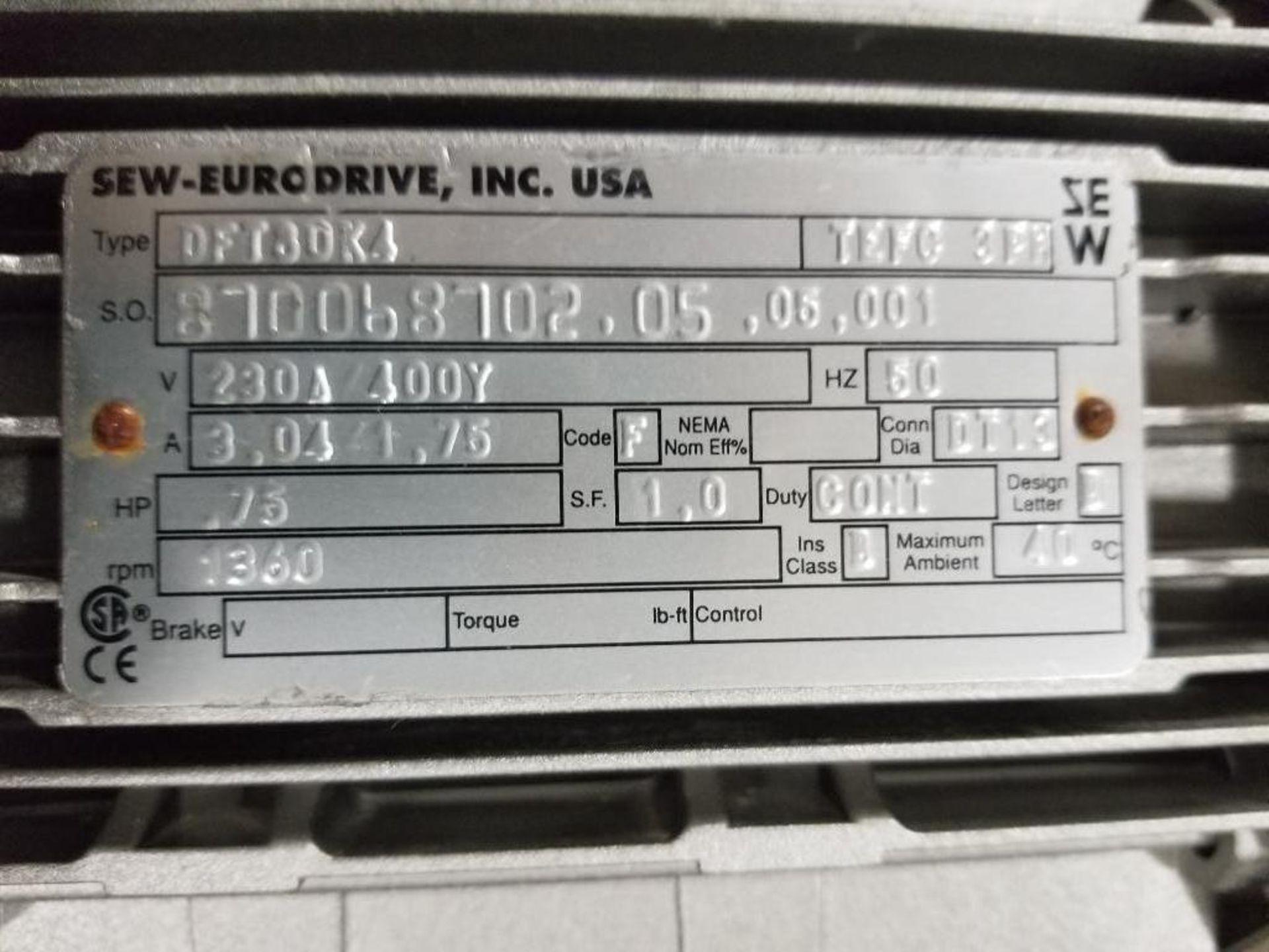 .75HP Sew-Eurodrive DFT80K4 motor. 230/400V, 1360RPM. - Image 3 of 3