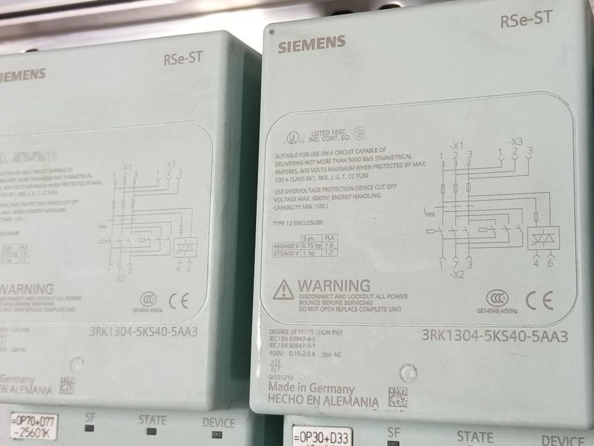 Siemens RSe-ST Reversing starter, DSe-ST Disconnect module flow control line. - Image 5 of 9