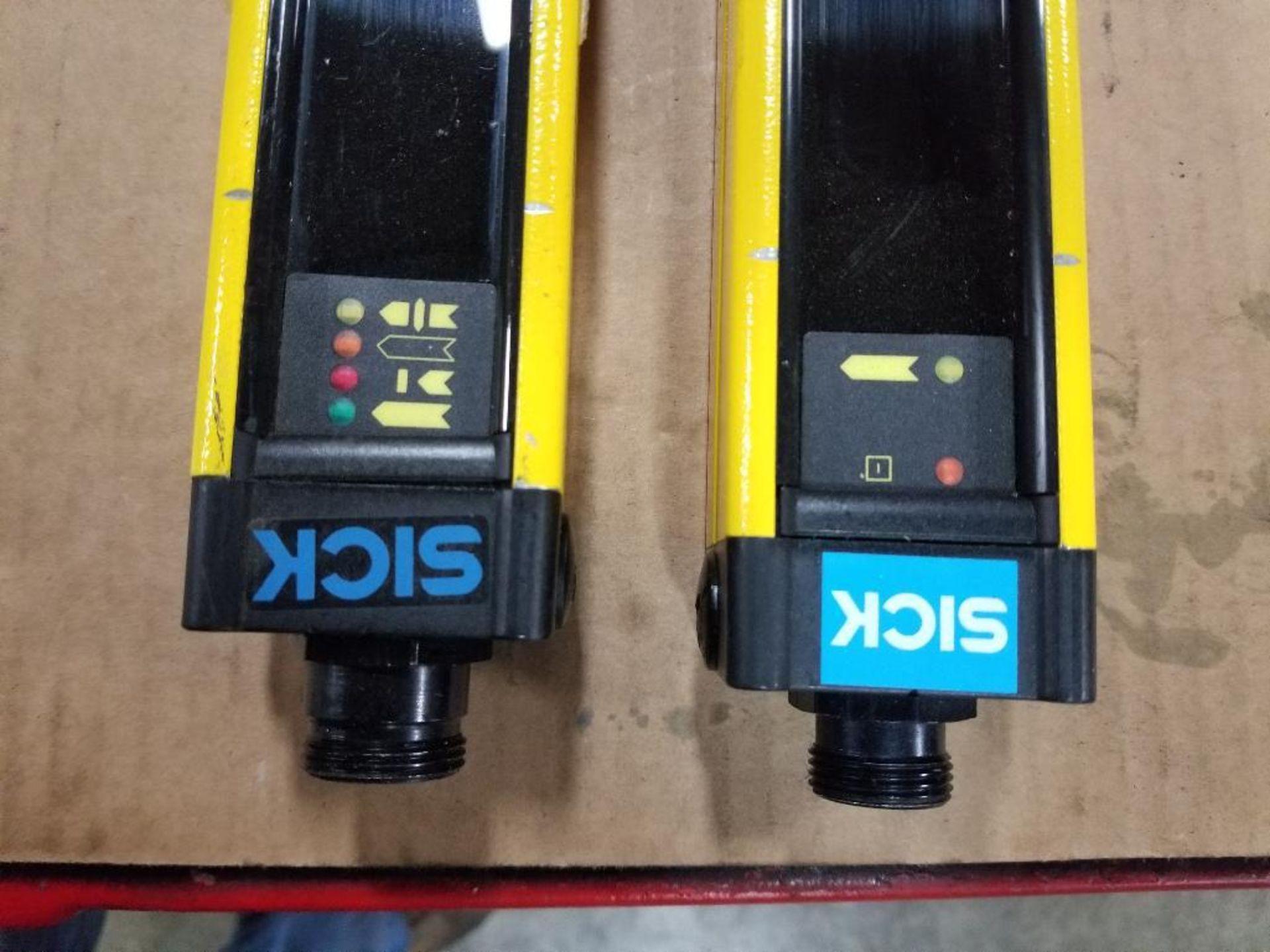 SICK Light curtain transmitter / receiver set. 14-FGS 1-012-762, 1-012-761. - Image 3 of 9