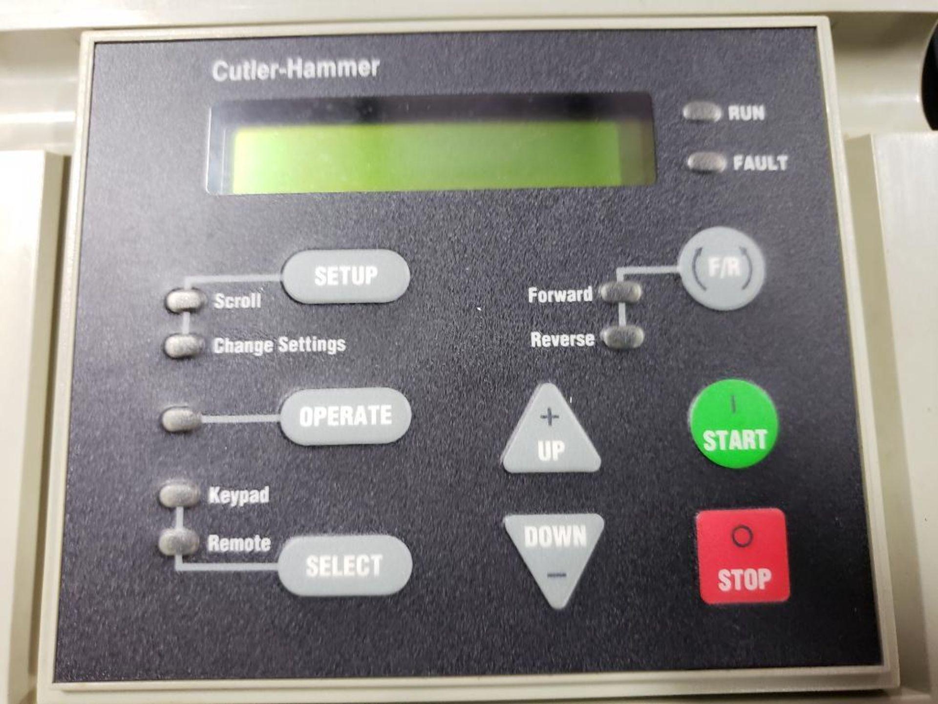 Chiller control cabinet. Hoffman enclosure, Cutler Hammer AF93AG0B007D drive, Allen Bradley drive. - Image 18 of 35