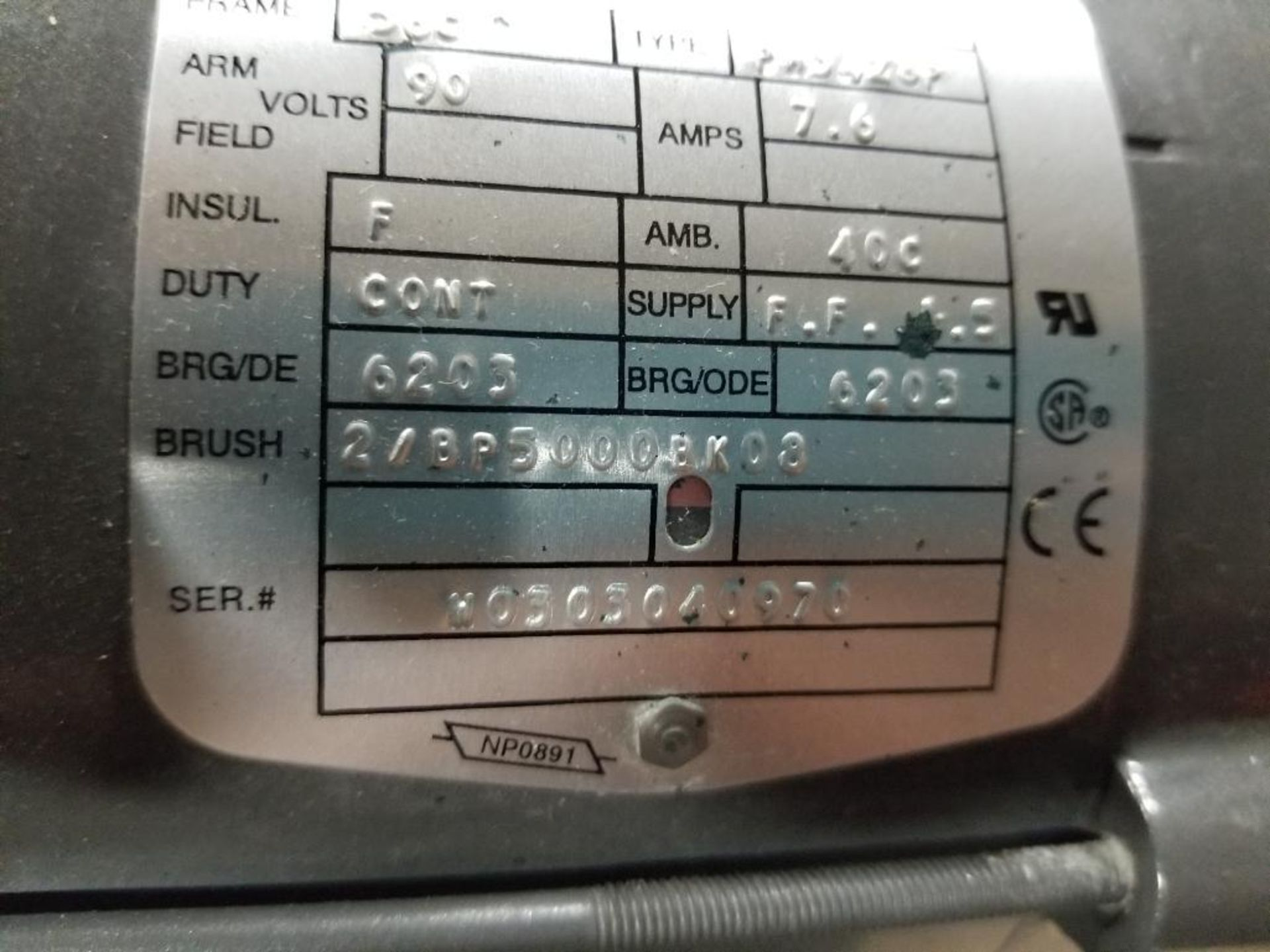 3/4HP Baldor industrial motor COP3440, 34-5990-3662. 1750RPM, 56C-Frame. - Image 4 of 5