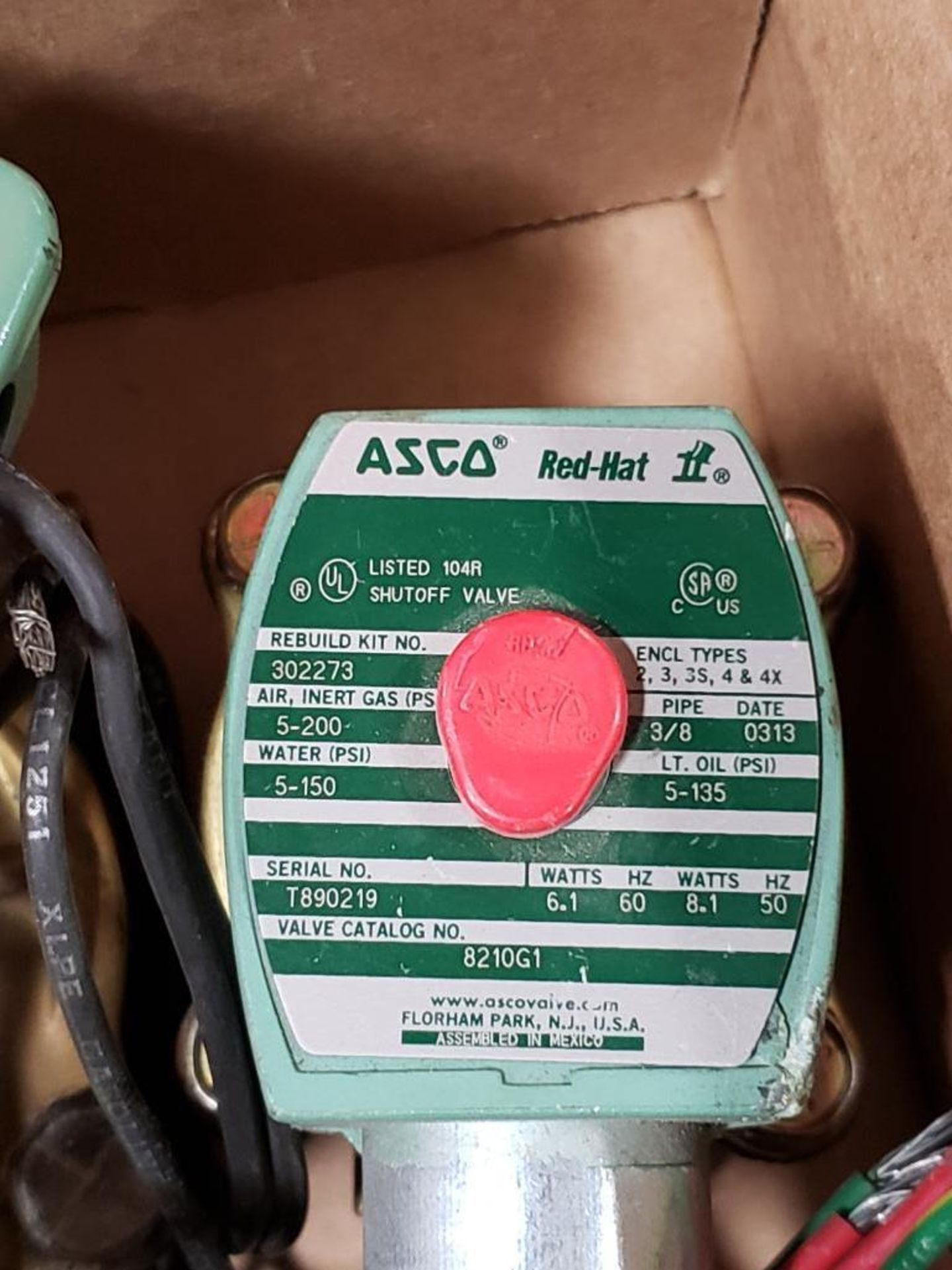 Qty 6 - Assorted ASCO solenoid coil. - Image 7 of 8
