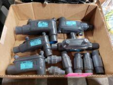 Assorted conduit body. Ocal Blue.
