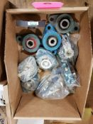 Assorted pillow block bearings. McGill, Fafnir.