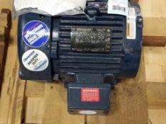 7-1/2HP Marathon electric EV8213TTFS4550APL blue chip sever duty motor. 3PH, 230/460V, 1760RPM.